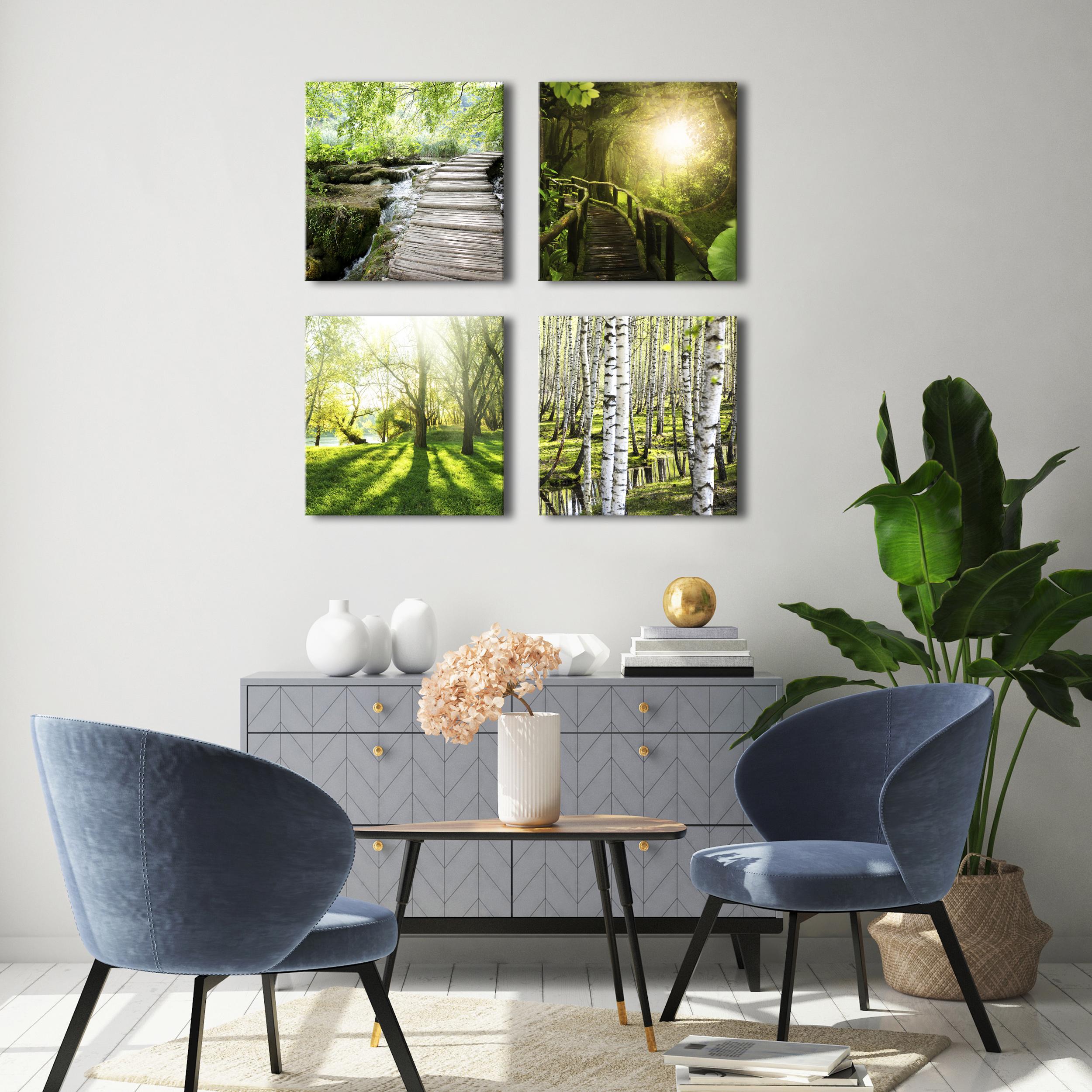 natur leinwand deko bilder wald landschatf xxl wohnzimmer