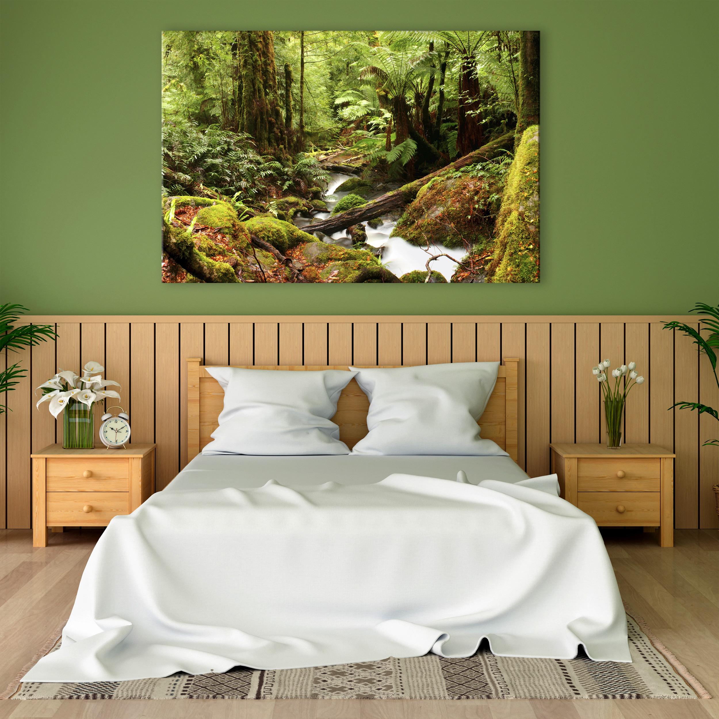 Wald WANDBILDER LEINWAND XXL Natur Landschaft Kunstdruck