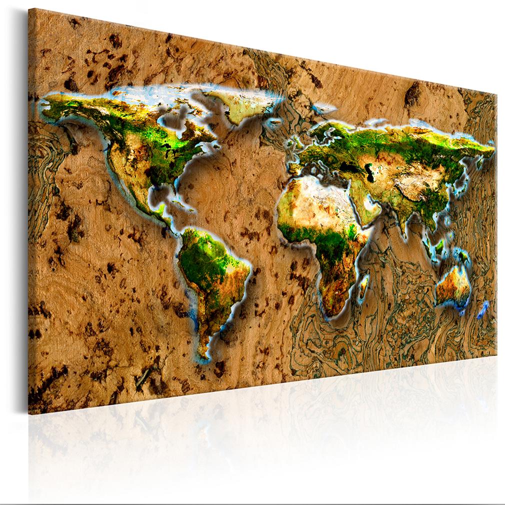 Kupfer Rost bilder leinwand bild weltkarte stahl kupfer rost abstrakt wandbilder