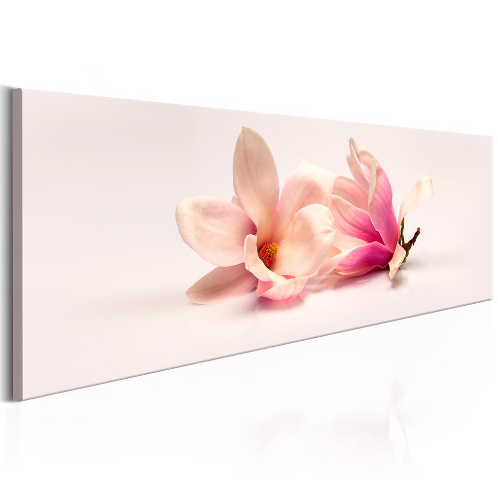 leinwand bild blumen wei gold orchidee lilie rosa. Black Bedroom Furniture Sets. Home Design Ideas