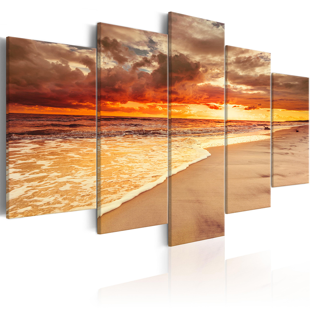 bilder leinwand bild meer strand natur sonne wasser wandbilder kunstdruck xxl ebay. Black Bedroom Furniture Sets. Home Design Ideas