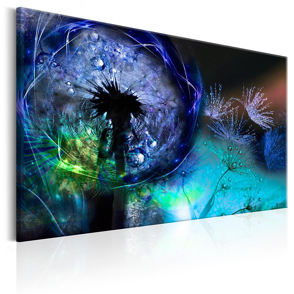 Leinwand bilder pusteblume blumen kunstdruck lowenzahn for Wohnzimmer bilder leinwand