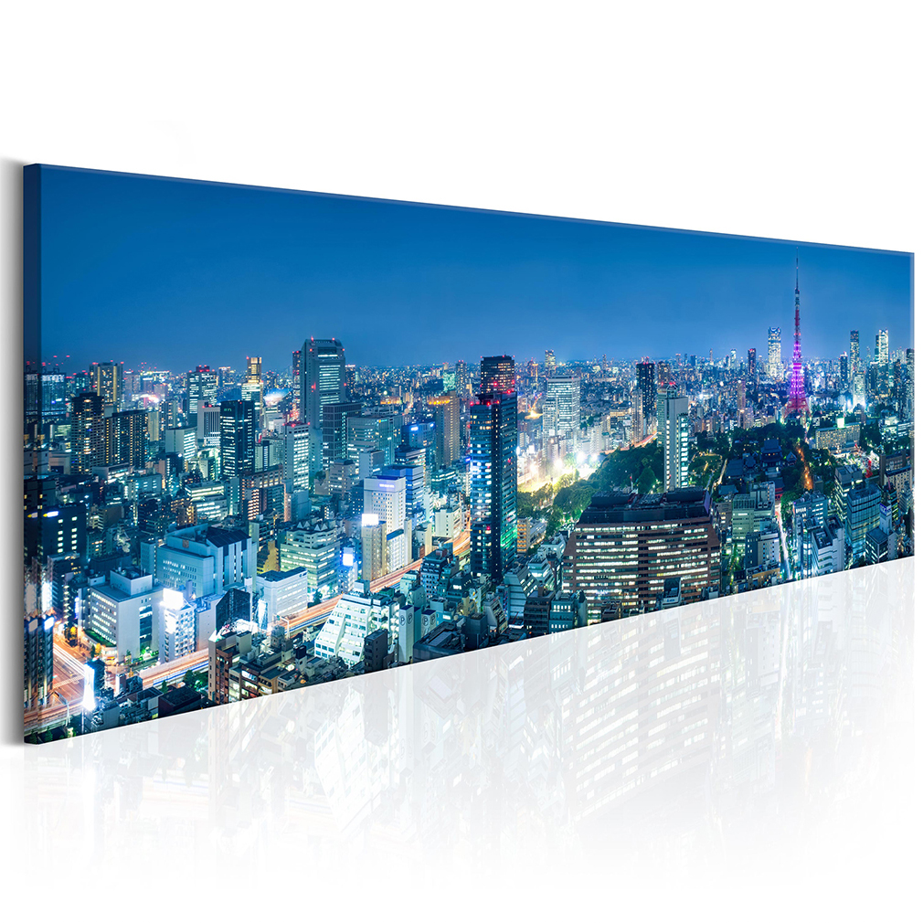 bilder leinwand bild new york skyline panorama wandbilder kunstdruck ebay. Black Bedroom Furniture Sets. Home Design Ideas