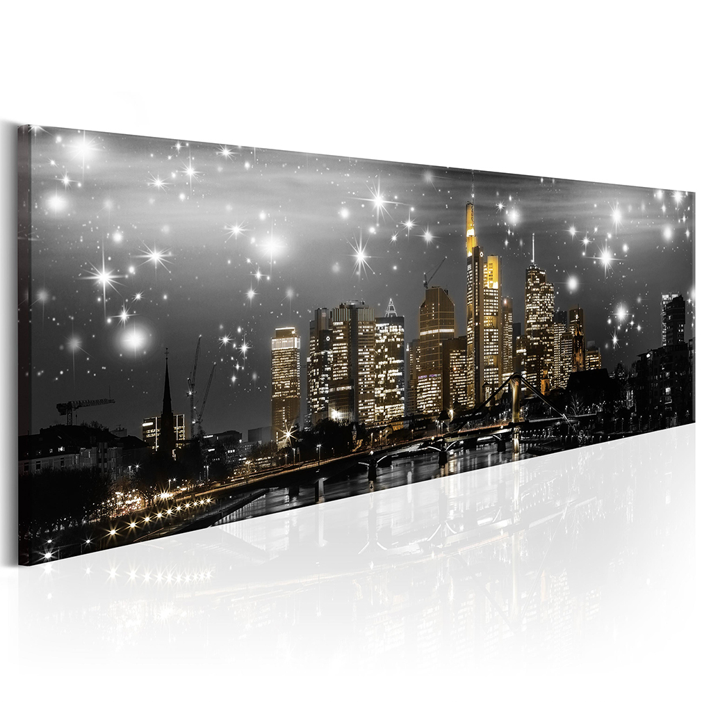 bilder leinwand bild new york skyline panorama wandbilder kunstdruck 10 farben ebay. Black Bedroom Furniture Sets. Home Design Ideas