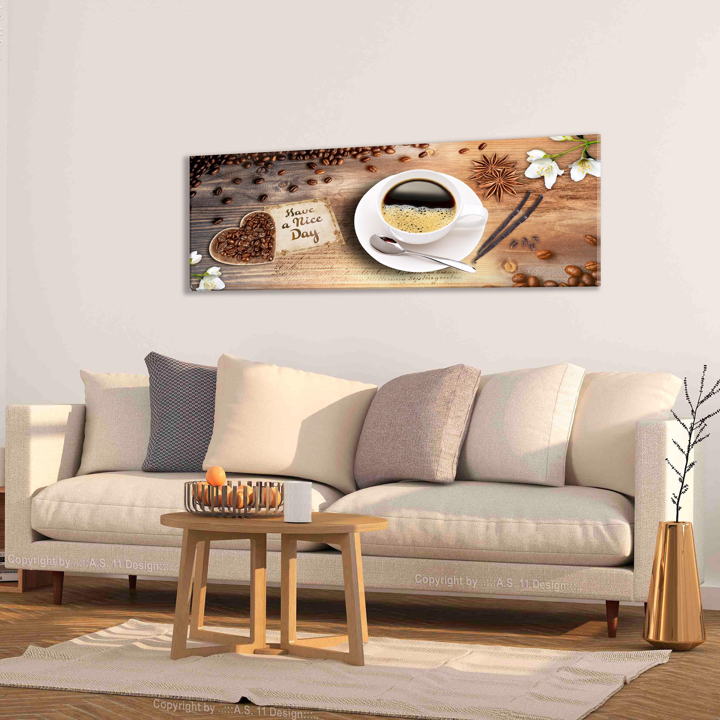 Details zu DEKO BILDER Küche Kaffee ESSZIMMER Wandbilder LEINWAND Caffe  Bild XXL KUNSTDRUCK