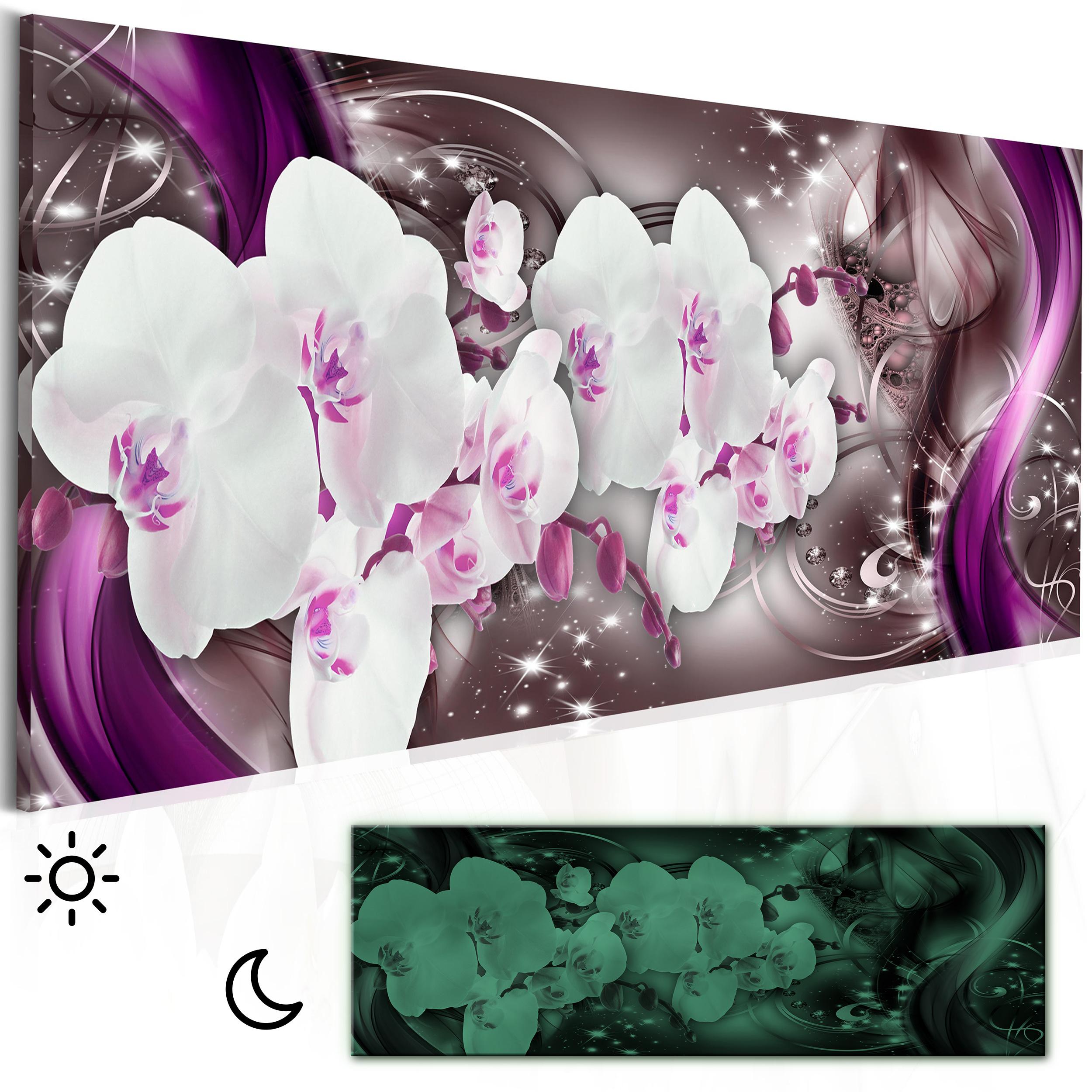 Leinwand bilder blumen orchidee abstrakt nachtleuchte for Wandbilder wohnzimmer abstrakt