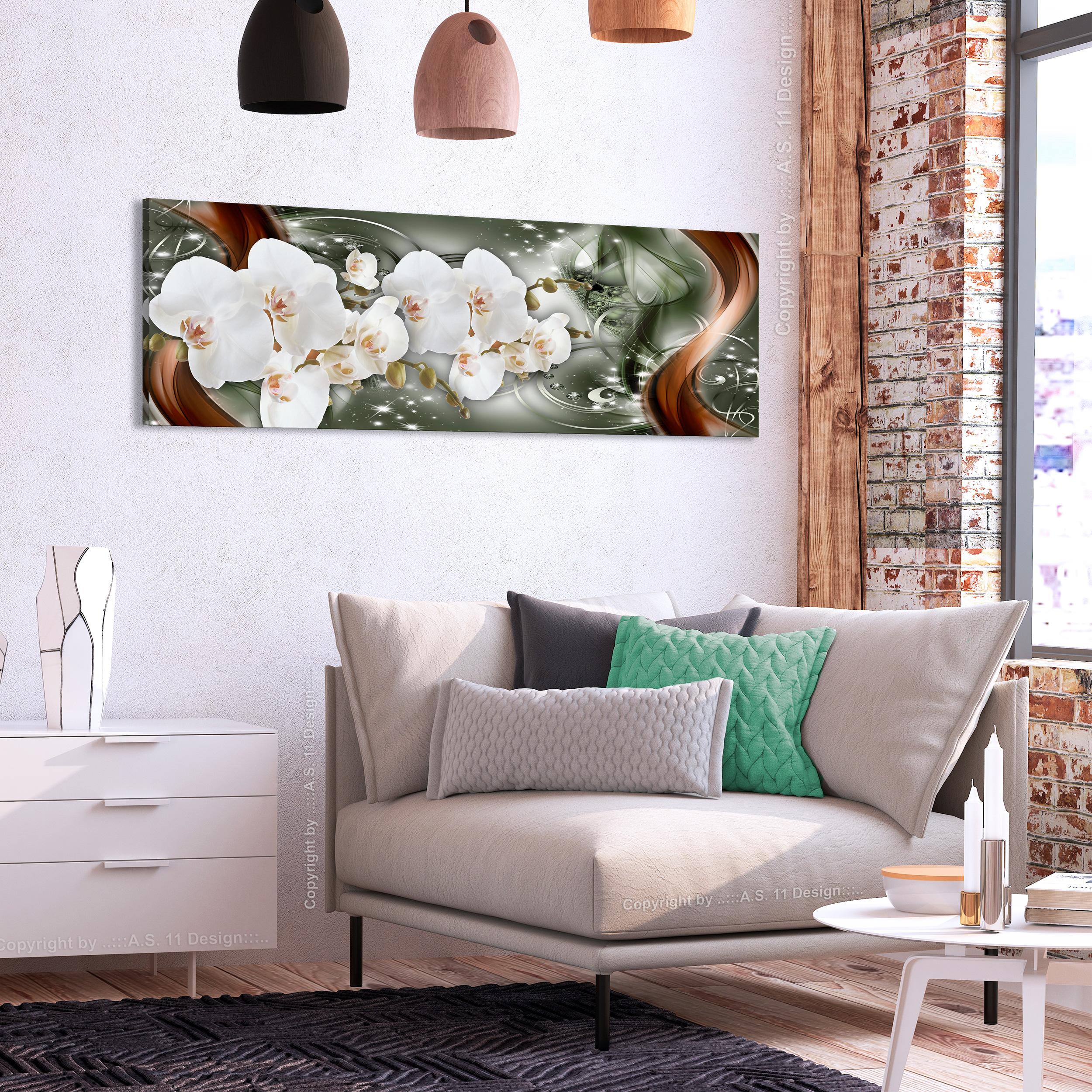Leinwand bilder blumen orchidee abstrakt nachtleuchte for Blumen wohnzimmer