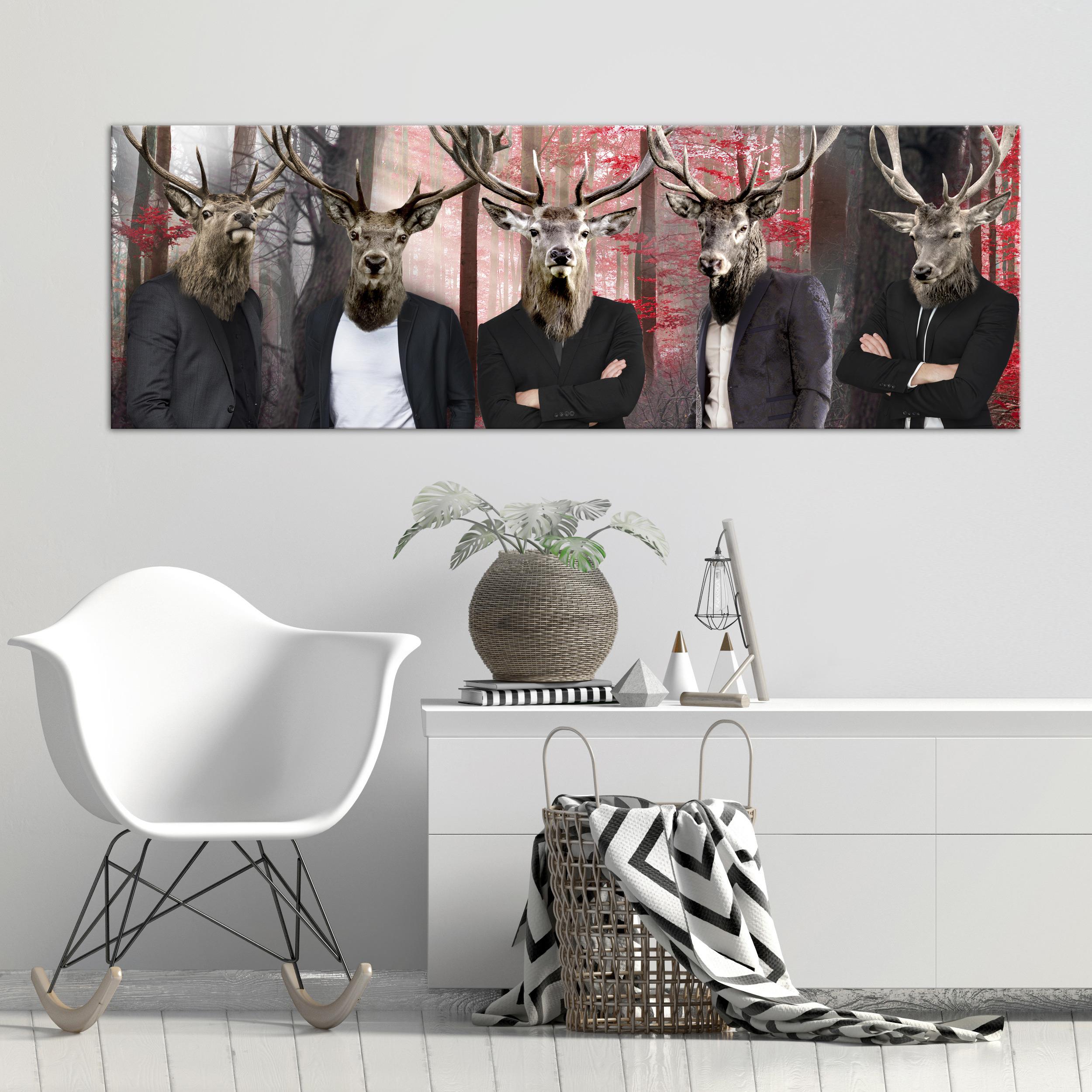 LEINWAND BILD Tiere Menschen Kunstdruck Modern Wandbilder ...
