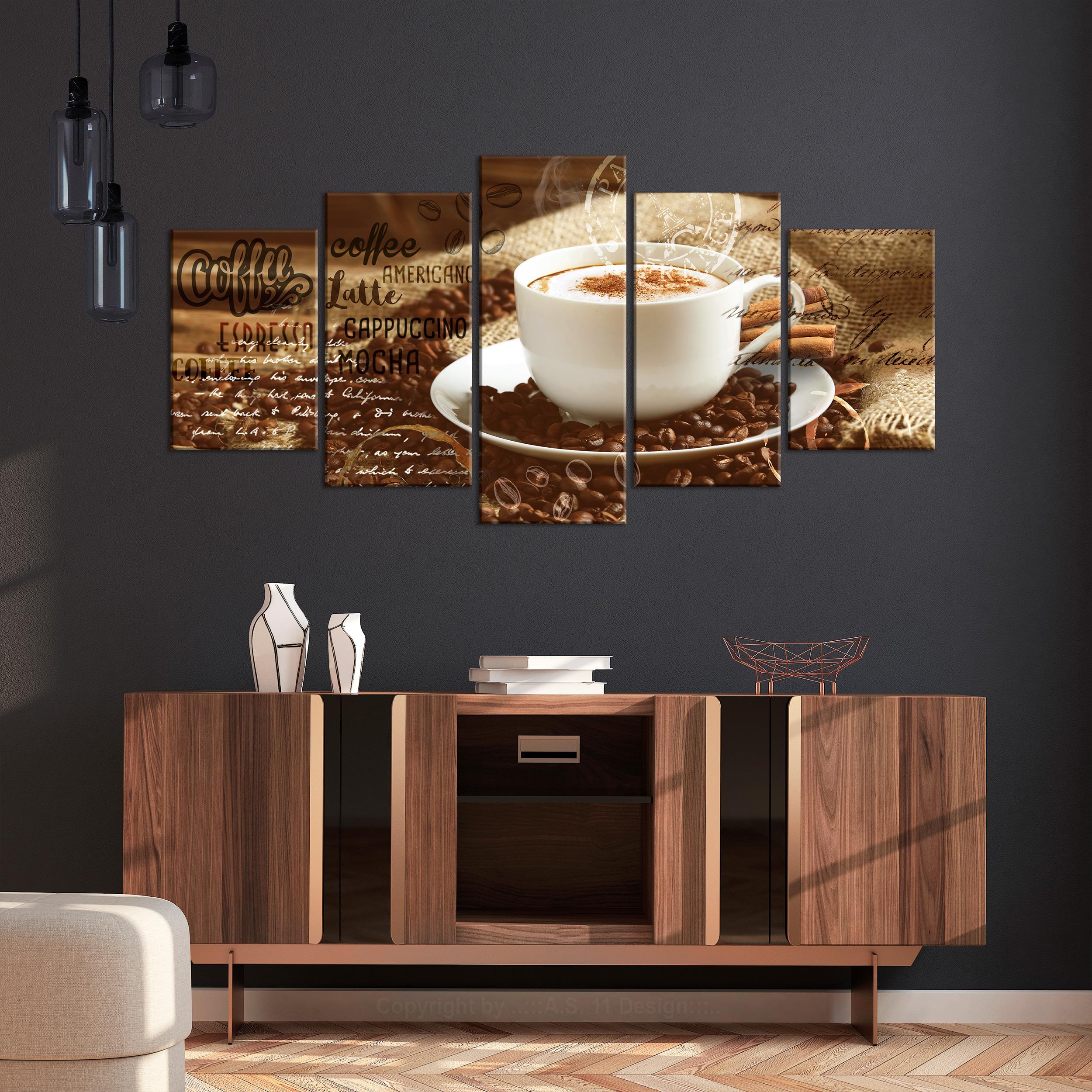 kaffee leinwand deko bild xxl coffee küche wand bilder
