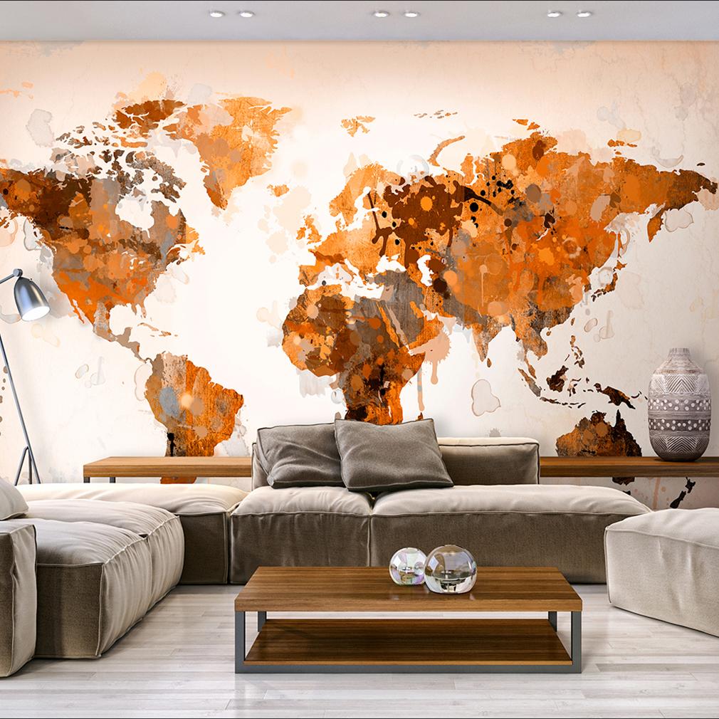 Vlies fototapete weltkarte tapete beige graffiti tapeten schlafzimmer wandbilder ebay - Wanddeko streifen ...