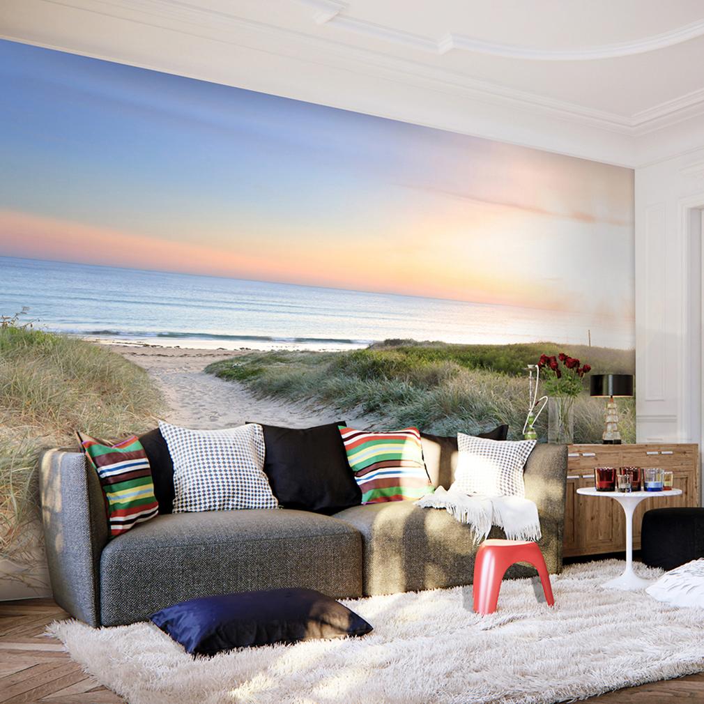 vlies fototapete strand meer himmel sonne natur landschaft tapete wandbild xxl ebay. Black Bedroom Furniture Sets. Home Design Ideas