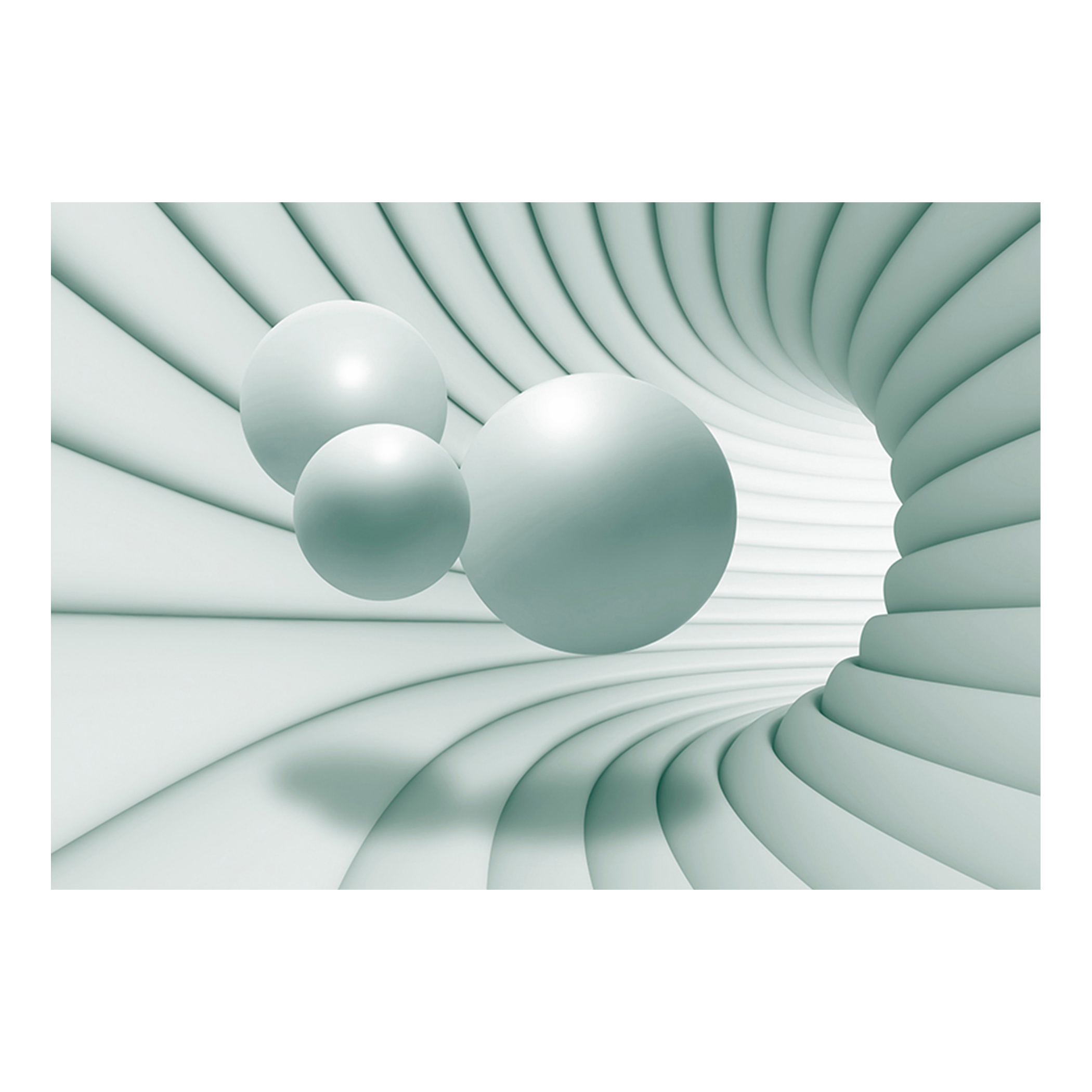 vlies fototapete 3d effekt kugeln tunnel tapete beige wei wandbild gro auswahl ebay. Black Bedroom Furniture Sets. Home Design Ideas