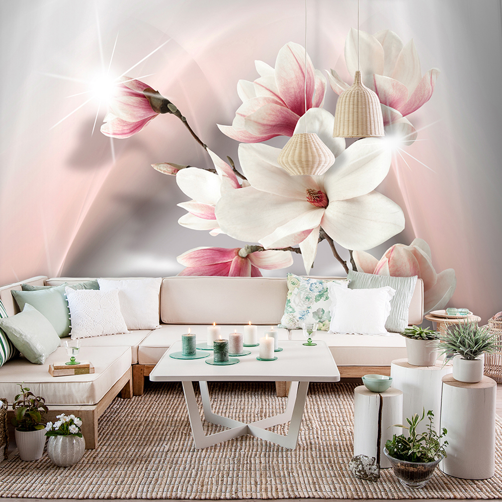 vlies fototapete blumen rosa rose lilia orchidee natur tapete wandbild 3 farben ebay. Black Bedroom Furniture Sets. Home Design Ideas