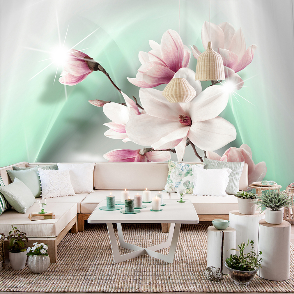 vlies fototapete blumen rosa rose lilia orchidee natur. Black Bedroom Furniture Sets. Home Design Ideas