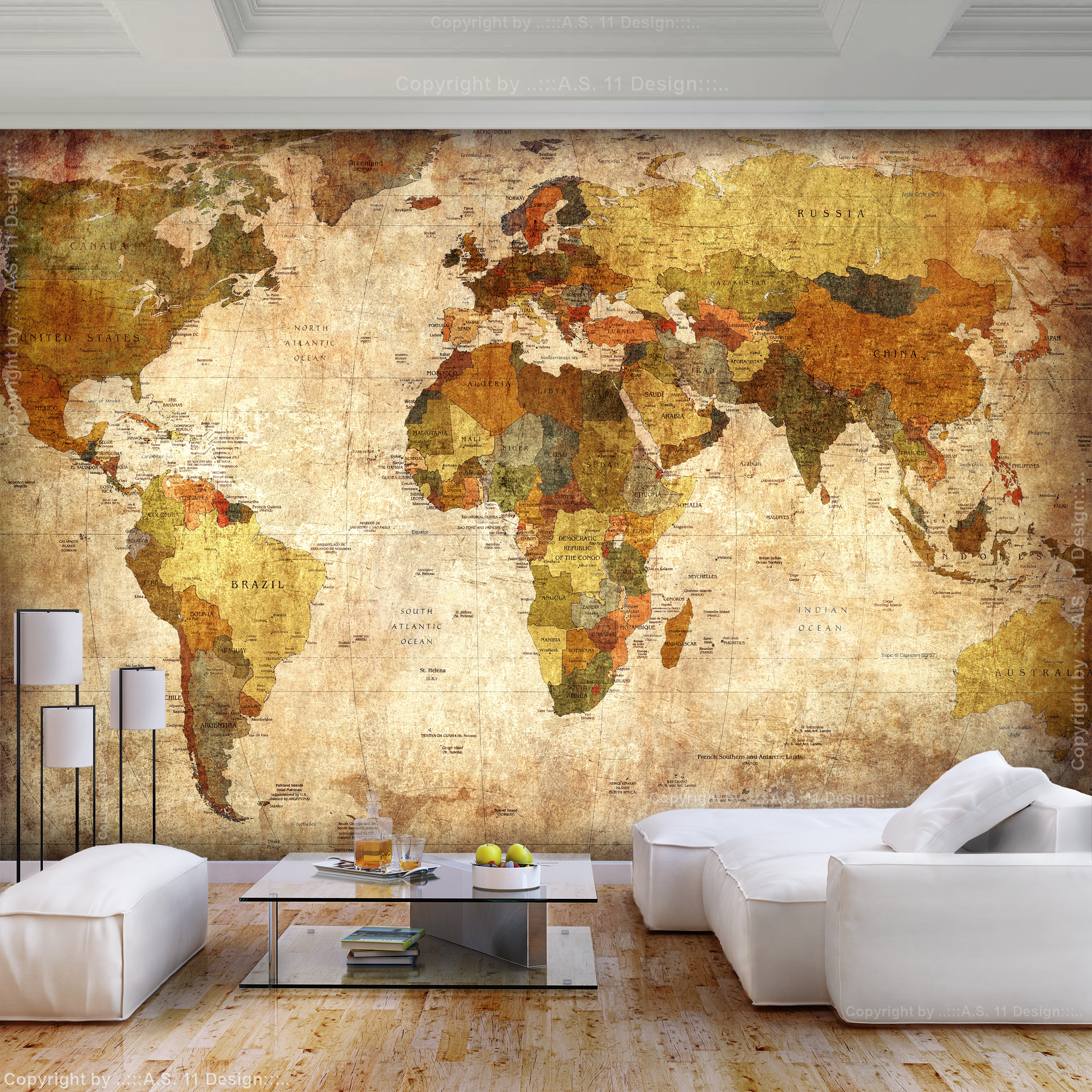 vlies fototapete weltkarte vintage retro alt welt map tapete tapeten wandbild ebay. Black Bedroom Furniture Sets. Home Design Ideas
