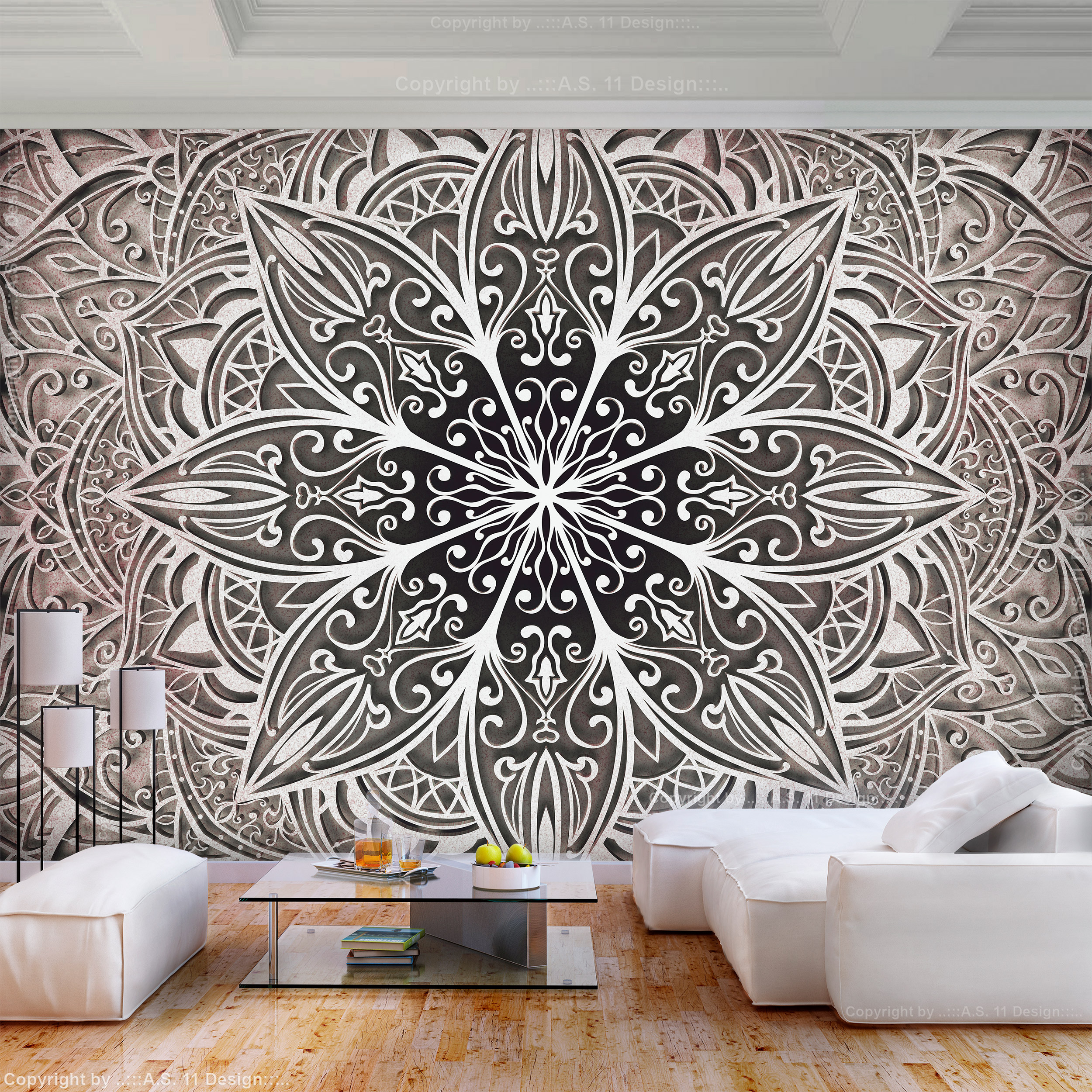 vlies fototapete mandala indische wohnzimmer tapete hippie orient