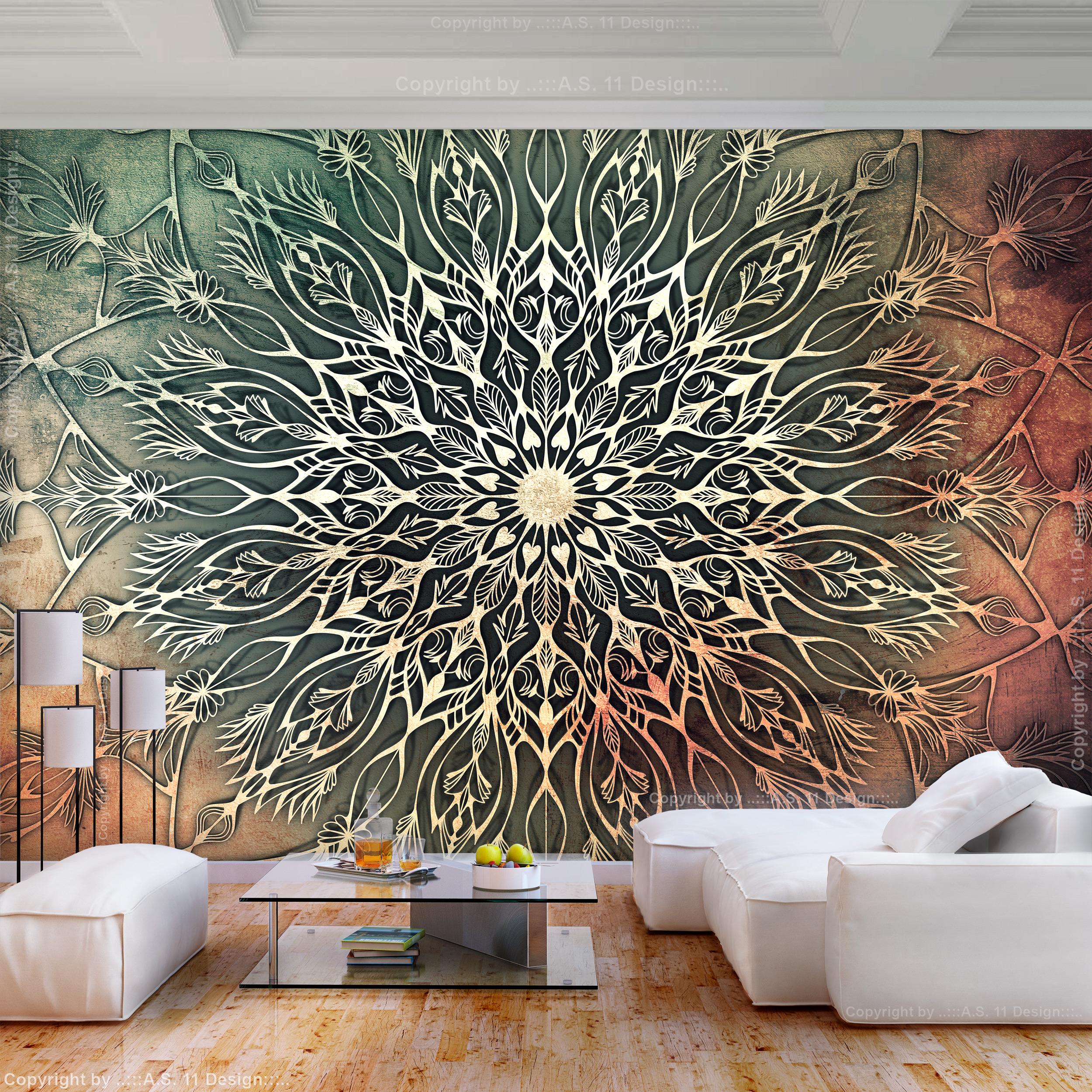 vlies fototapete mandala orient indische braun tapete wandbilder xxl wohnzimmer ebay. Black Bedroom Furniture Sets. Home Design Ideas