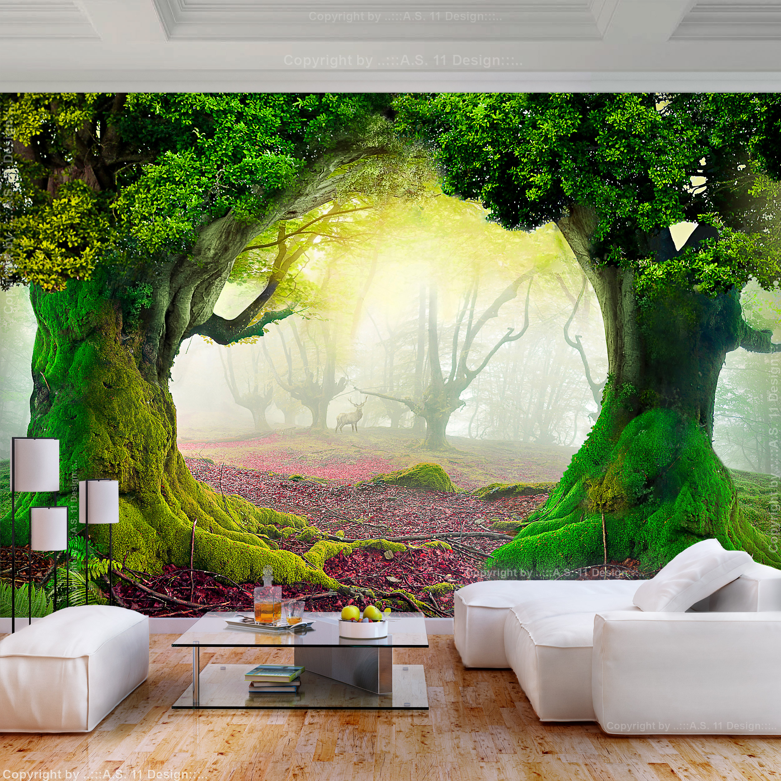 VLIES FOTOTAPETE Wald Natur Herbst 3D effekt TAPETE