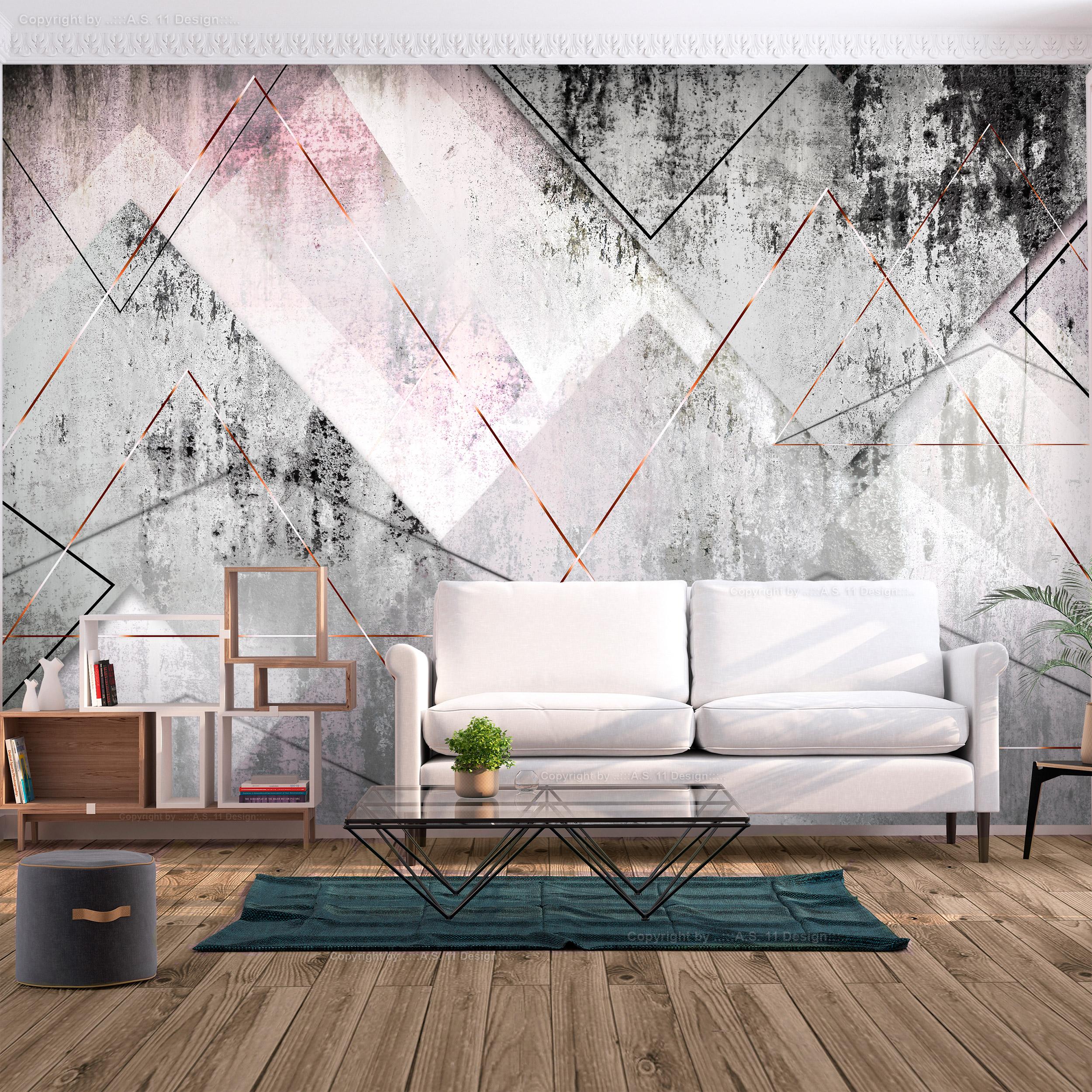 Details zu FOTOTAPETE Beton Stein Rosa TAPETE Modern WANDBILD XXL  geometrisch Wohnzimmer 10M