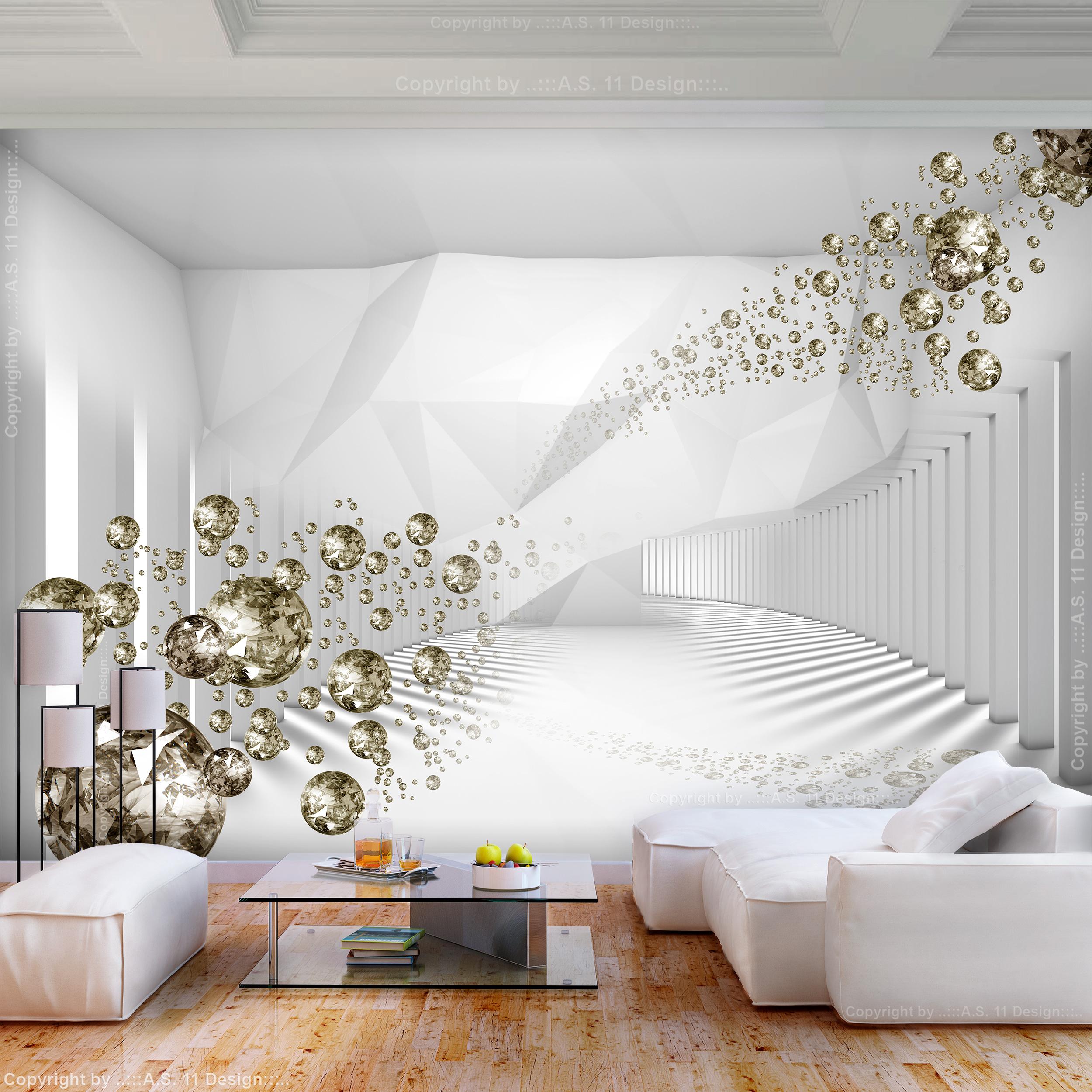vlies fototapete 3d optik tunnel wei diamant tapete. Black Bedroom Furniture Sets. Home Design Ideas
