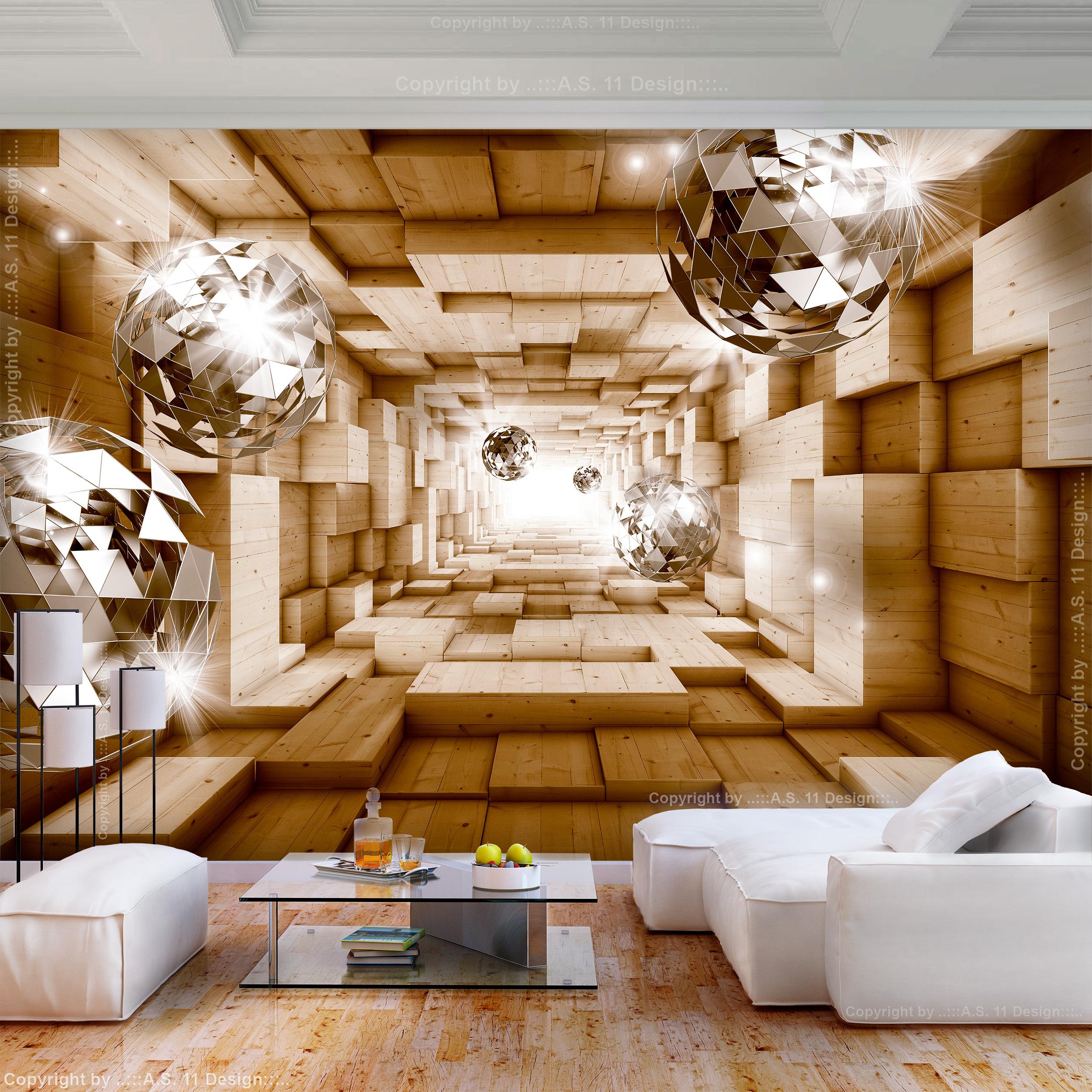vlies fototapete 3d effekt kugeln diamant grau tunnel tapete wandbilder xxl 117 ebay. Black Bedroom Furniture Sets. Home Design Ideas