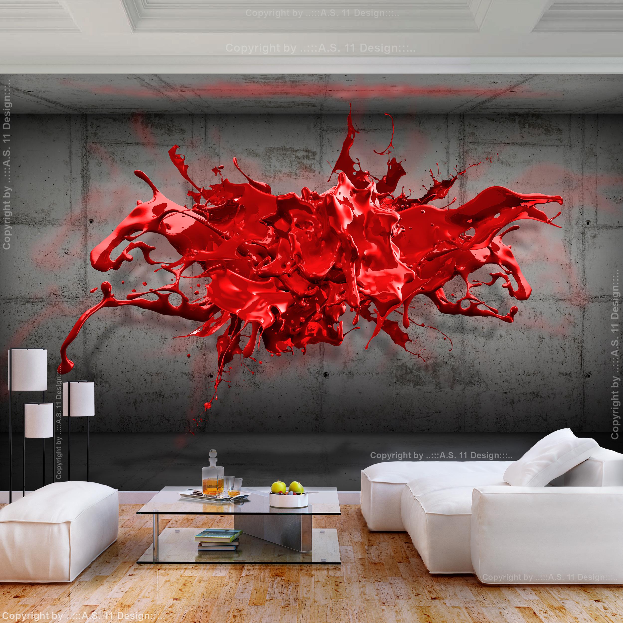 vlies fototapete farbfleck beton 3d effekt tapete wandbilder xxl wohnzimmer 131 ebay. Black Bedroom Furniture Sets. Home Design Ideas