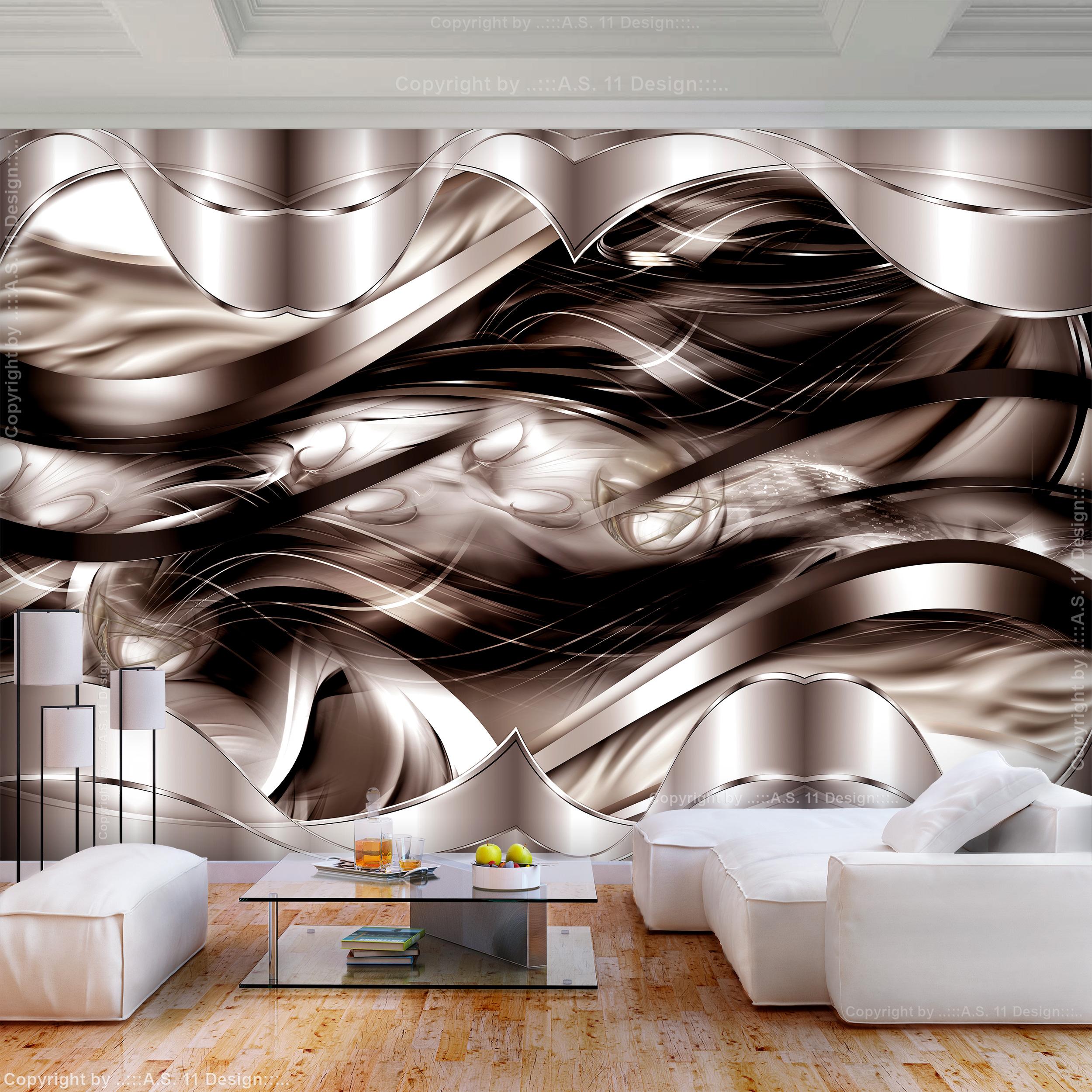 vlies fototapete abstrakt 3d effekt diamant schwarz silber. Black Bedroom Furniture Sets. Home Design Ideas