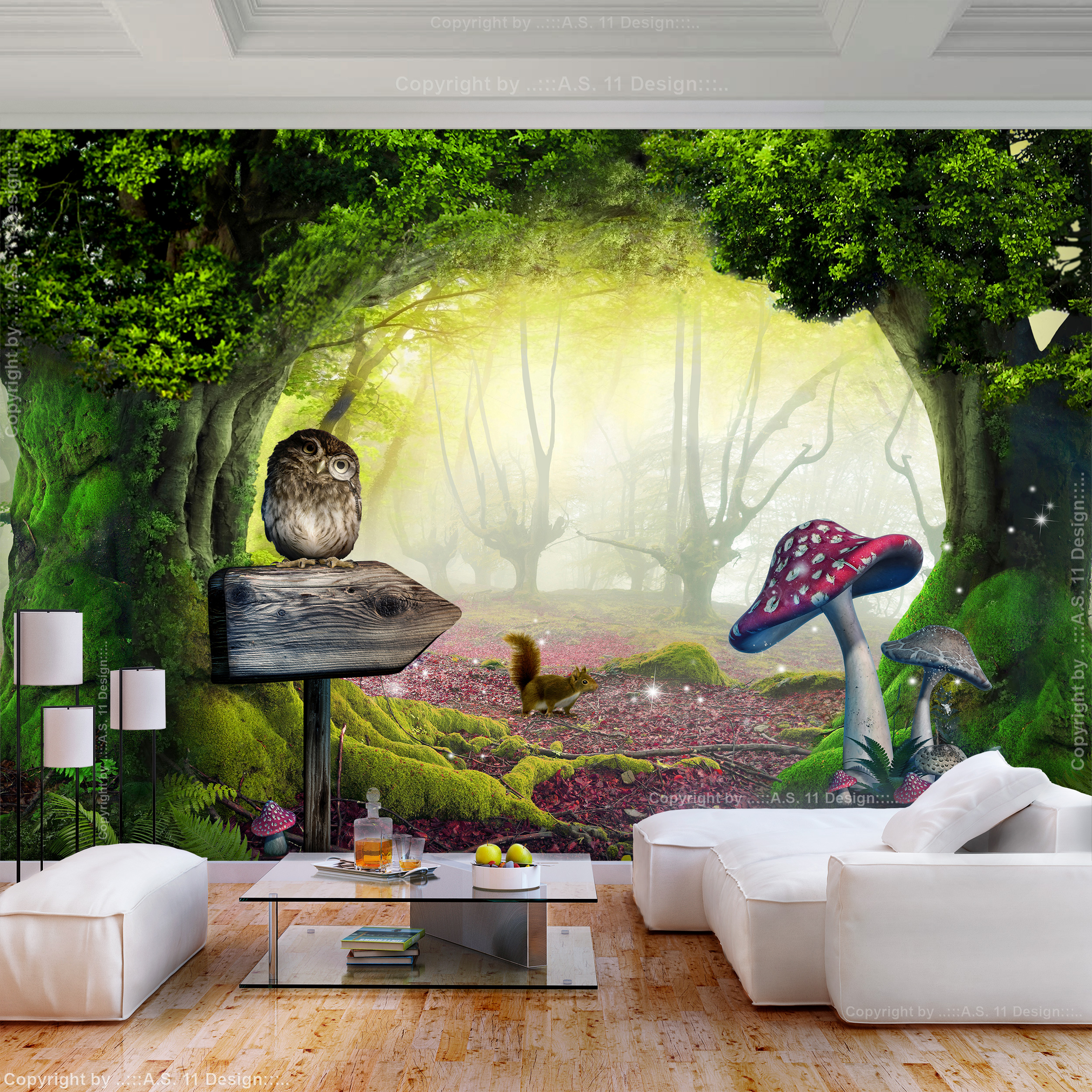Tapete350x250cm Kinderzimmer Wald 3d Anpassung Wallpaper ...
