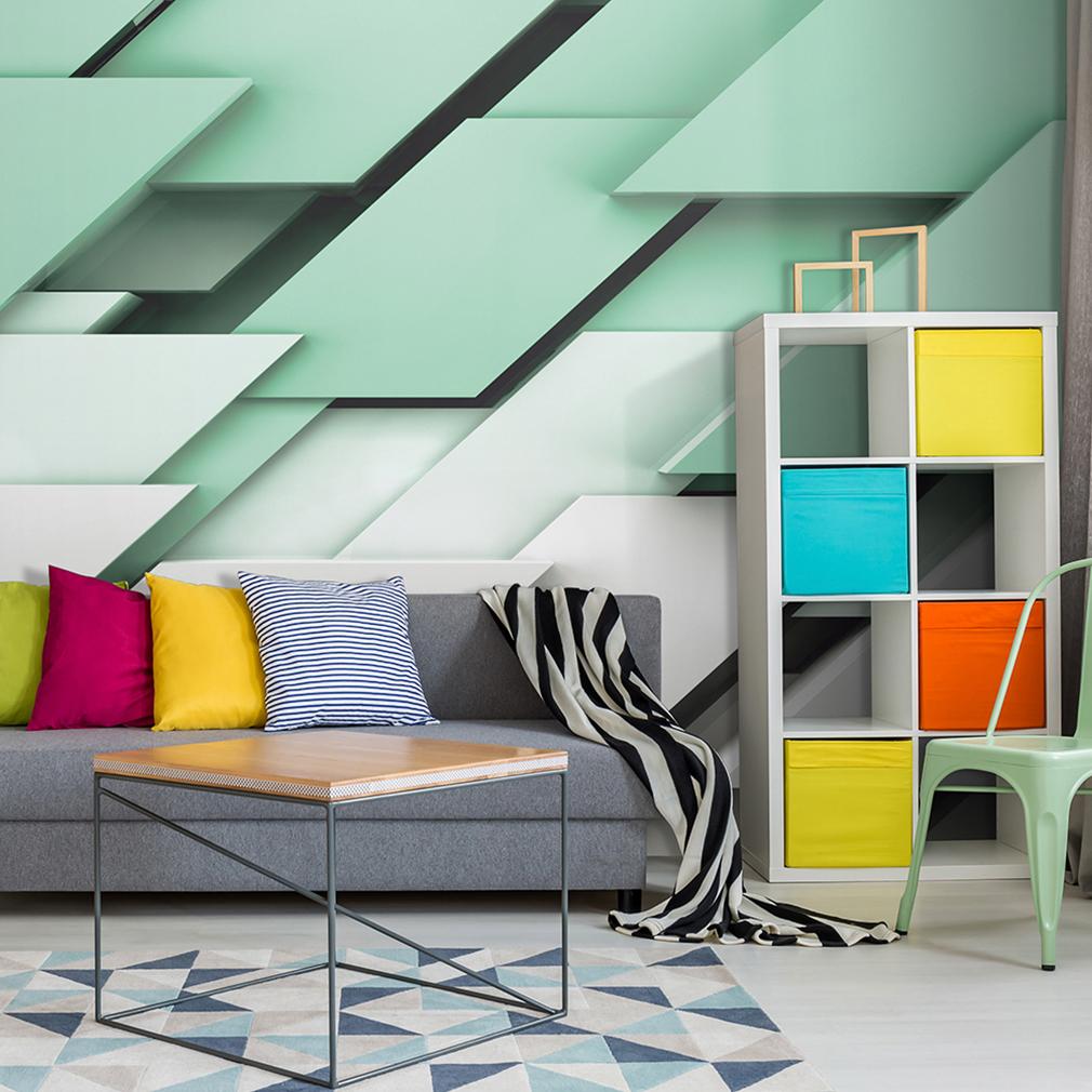 Vlies fototapete 3d effekt tapete 3d optik wandbilder xxl wohnzimmer 3 farbe ebay - 3d wandbilder wohnzimmer ...