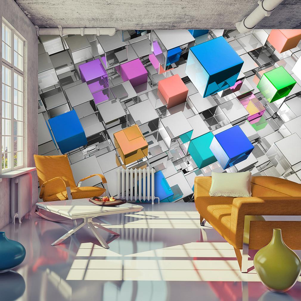 Vlies fototapete 3d glas bunt skyliner tapete tapeten for 3d tapeten schlafzimmer