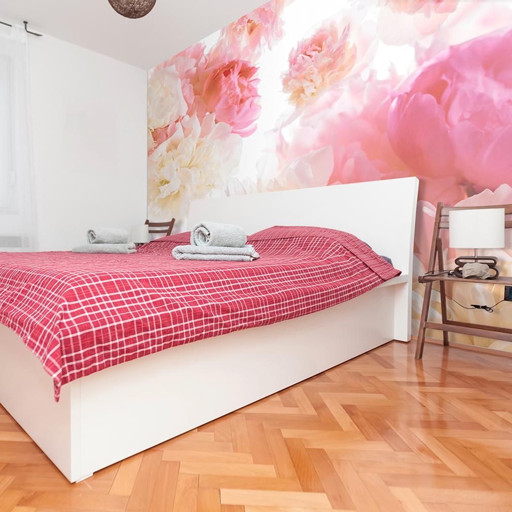 vlies fototapete blumen rosa rose wei tapete wandbilder xxl wohnzimmer 5 farb ebay. Black Bedroom Furniture Sets. Home Design Ideas