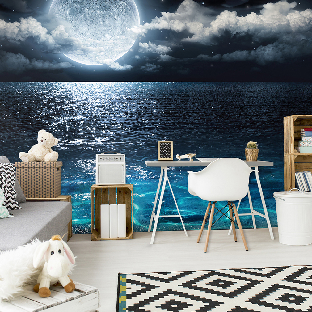 vlies fototapete himmel stern mond tapete meer nacht. Black Bedroom Furniture Sets. Home Design Ideas