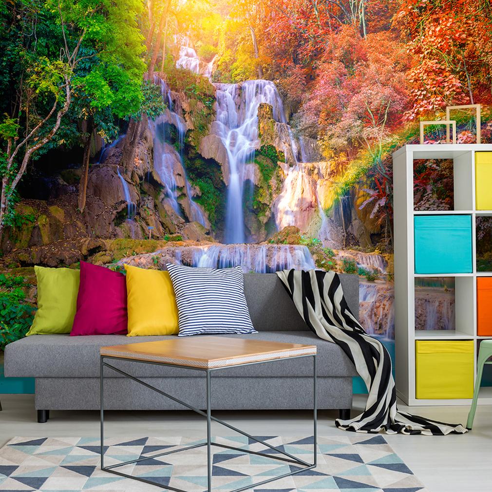 vlies fototapete wasserfall tapete tapeten schlafzimmer wandbild xxl fob0086 ebay. Black Bedroom Furniture Sets. Home Design Ideas
