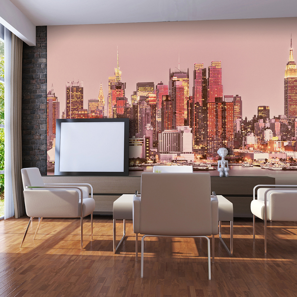 vlies fototapete new york skyline tapete wandbilder xxl wohzimmer 12 farbe ebay. Black Bedroom Furniture Sets. Home Design Ideas