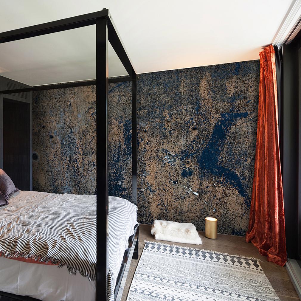 VLIES FOTOTAPETE Steinwand Beton Grau Braun TAPETE Schlafzimmer
