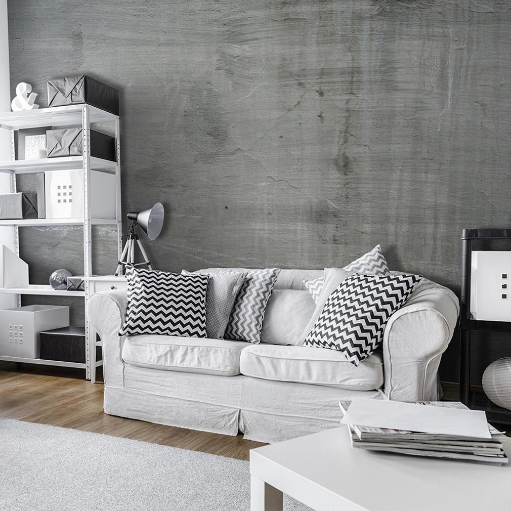 vlies fototapete steinwand beton grau braun tapete wandbilder xxl wohnzimmer ebay. Black Bedroom Furniture Sets. Home Design Ideas