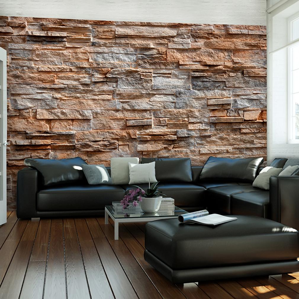 selbstklebende fototapete 3d ziegel optik wandtattoo stein wohnzimmer klebefolie ebay. Black Bedroom Furniture Sets. Home Design Ideas