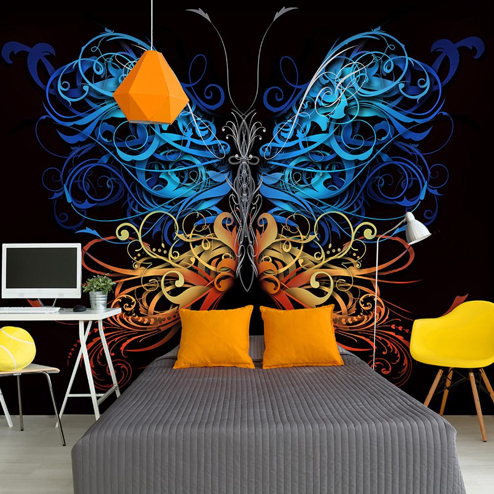 vlies fototapete schmetterling tattoo graffiti tapete. Black Bedroom Furniture Sets. Home Design Ideas