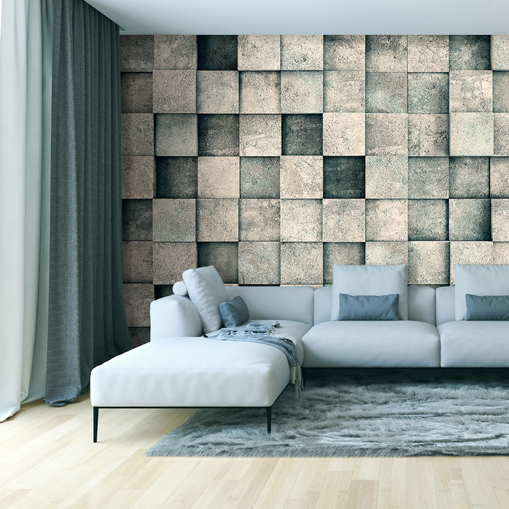 vlies fototapete 3d stein optik steinwand beton tapete. Black Bedroom Furniture Sets. Home Design Ideas