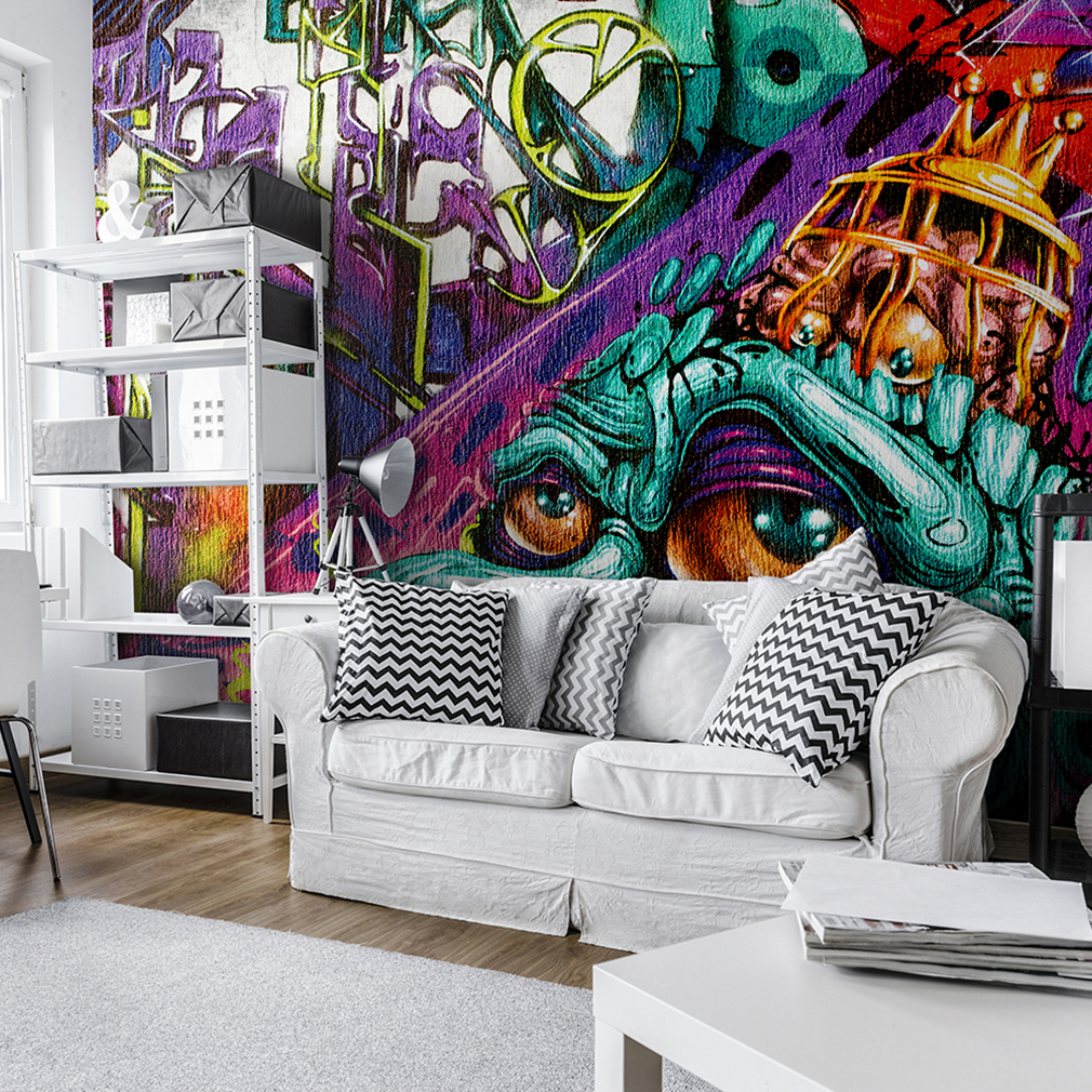 vlies fototapete graffiti streetart tapete tapeten. Black Bedroom Furniture Sets. Home Design Ideas