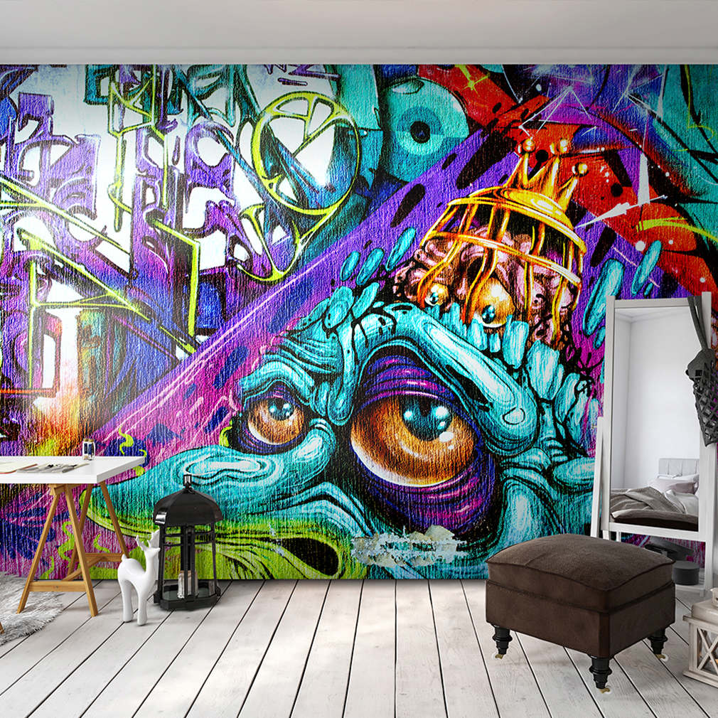 vlies fototapete graffiti tapete kinderzimmer wandbilder xxl streetart jugend ebay. Black Bedroom Furniture Sets. Home Design Ideas