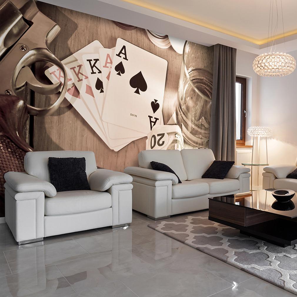 vlies fototapete spielkarten tapete tapeten schlafzimmer. Black Bedroom Furniture Sets. Home Design Ideas