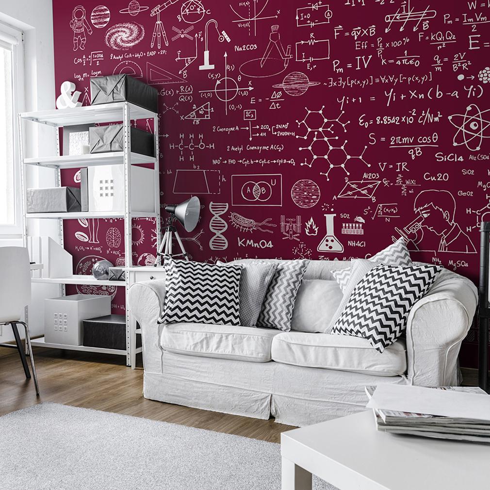 vlies fototapete taffel schwarz mathe tapete kinderzimmer wandbilder xxl 3 farbe ebay. Black Bedroom Furniture Sets. Home Design Ideas