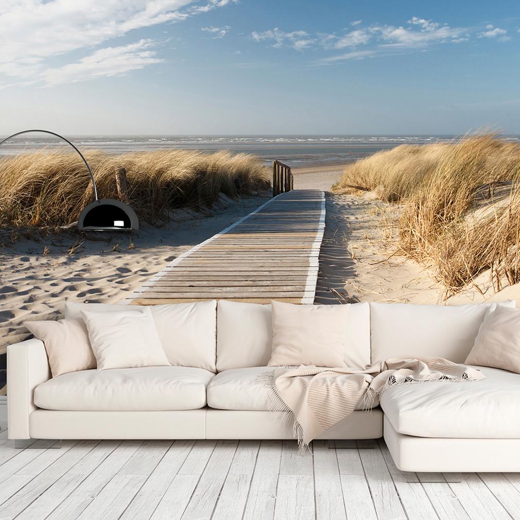 VLIES FOTOTAPETE Strand Meer Himmel Natur TAPETE Wohnzimmer