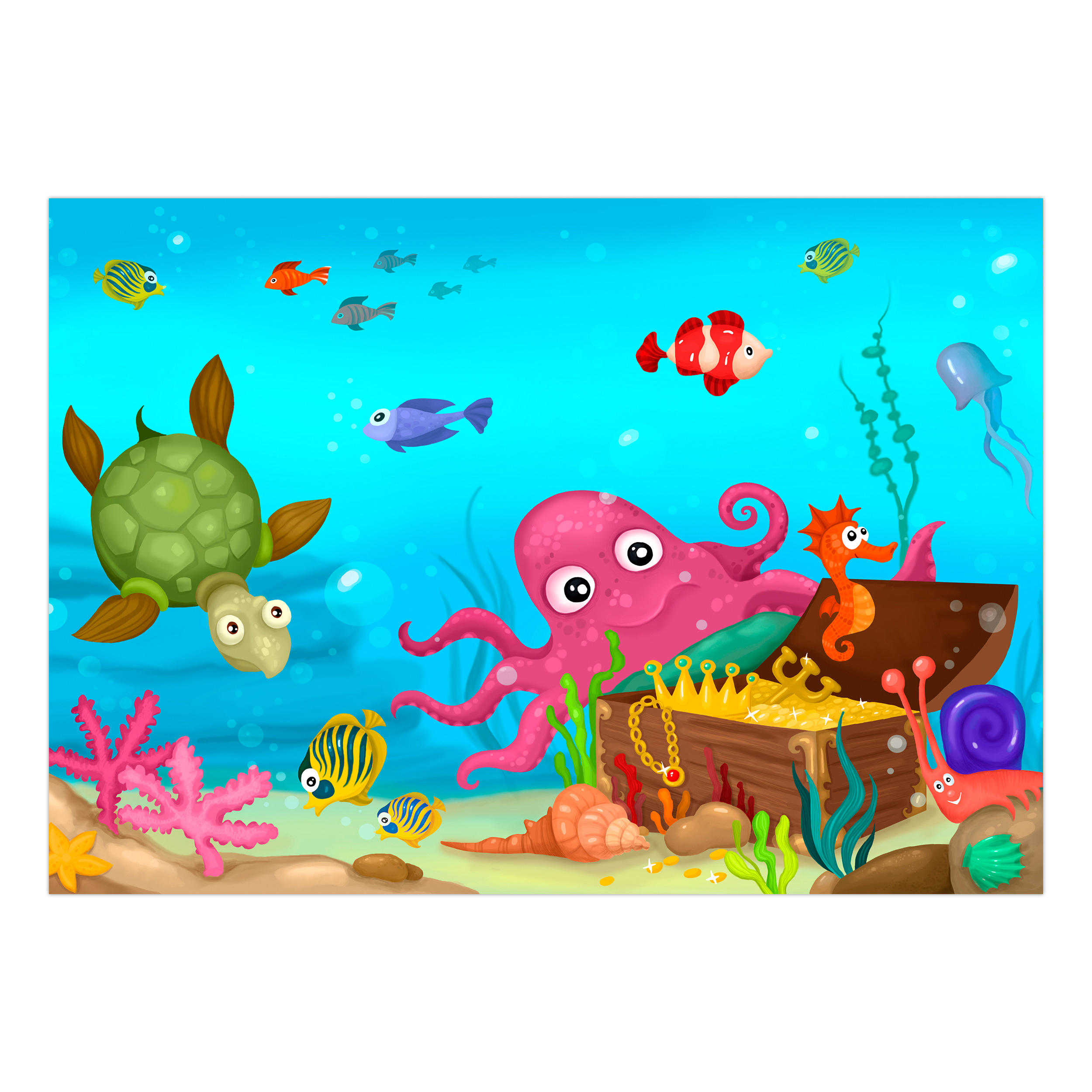 VLIES FOTOTAPETE Tiere Ozean Fische Kinder TAPETE