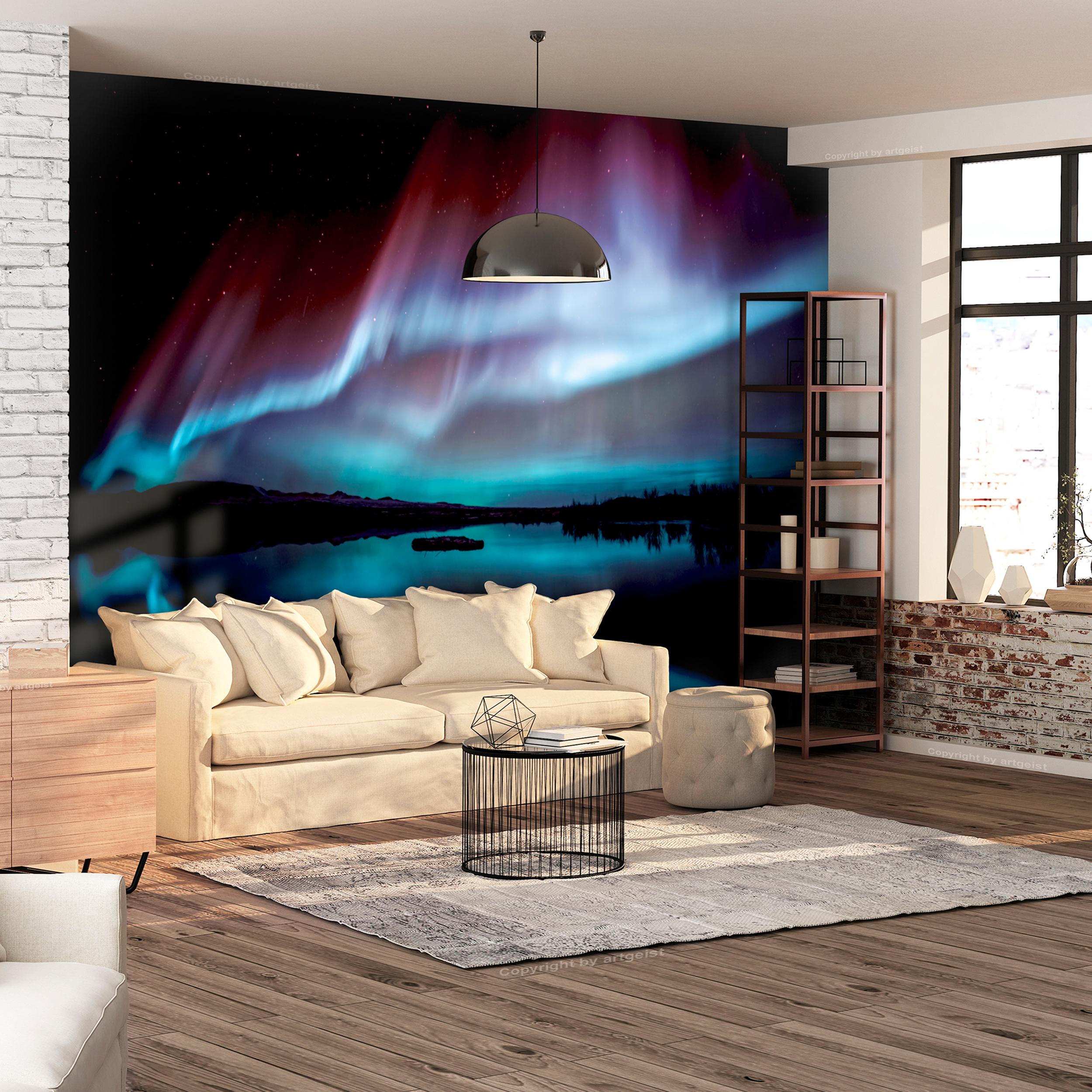 vlies fototapete polarlicht nordlichter himmel tapete. Black Bedroom Furniture Sets. Home Design Ideas