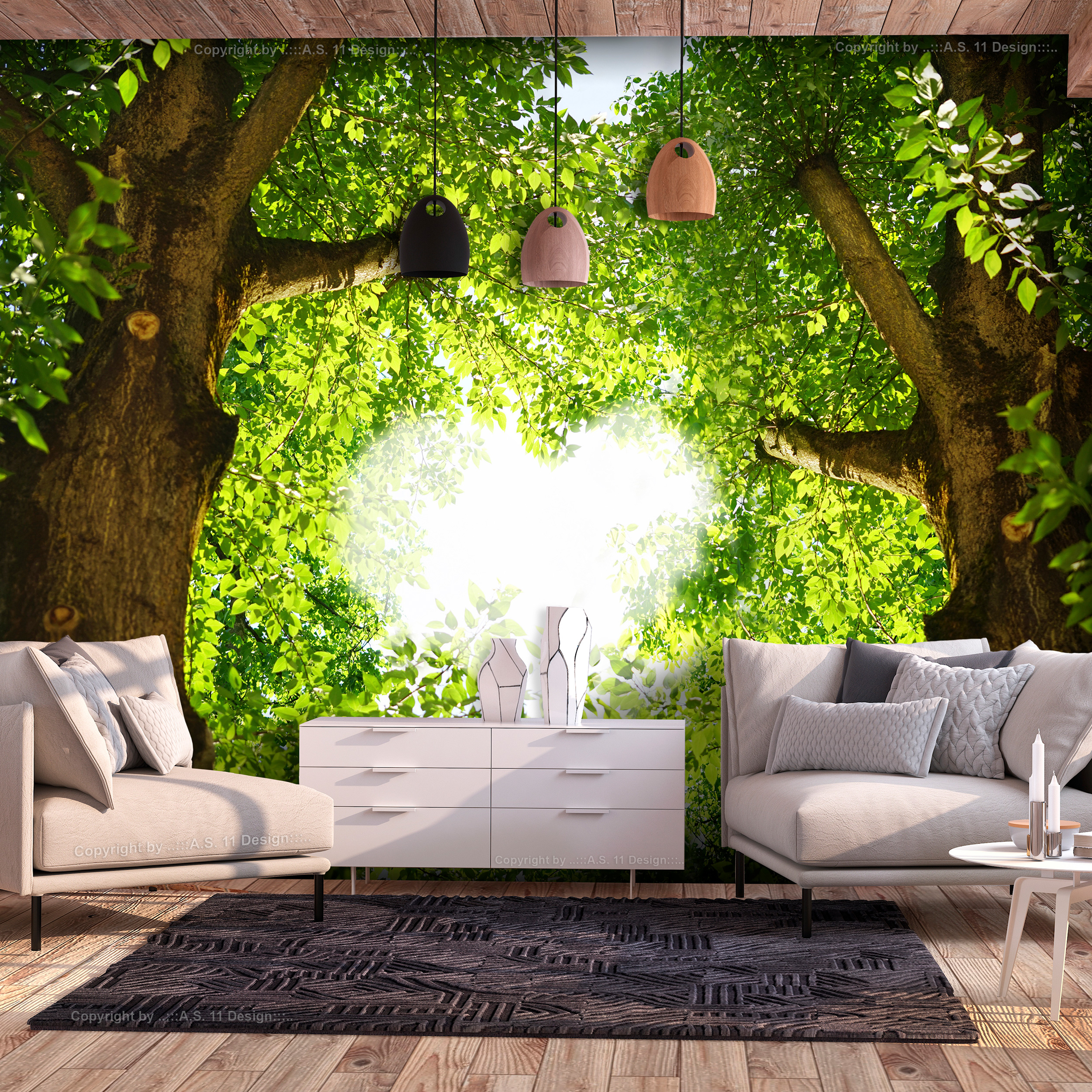 vlies fototapete wald liebe baum herz tapete natur tapeten wandbild xxl ebay. Black Bedroom Furniture Sets. Home Design Ideas