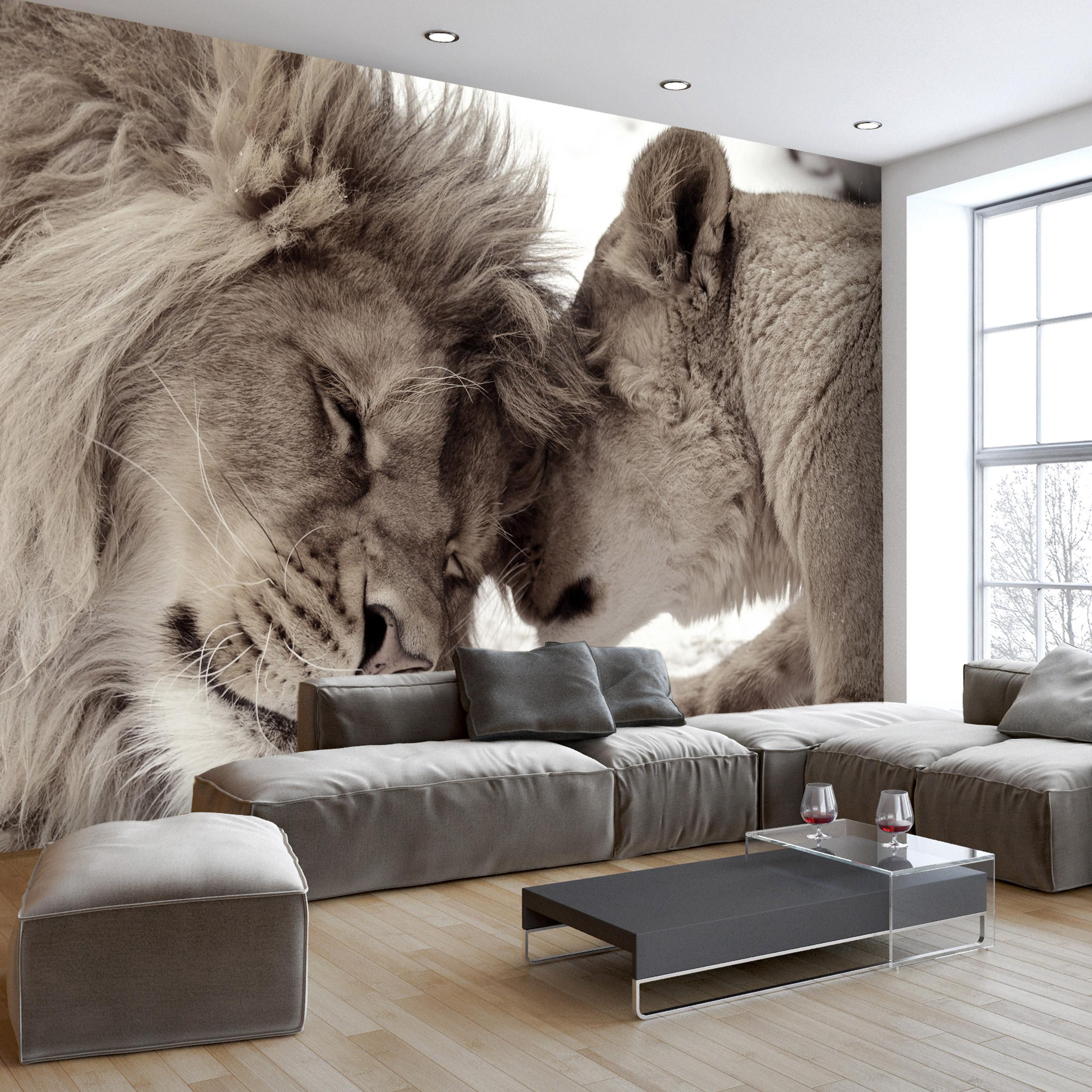 Details zu Löwe VLIES Fototapete Tapeten XXL Wanddeko Wohnzimmer 9 Motiv  Modern Tiere Natur