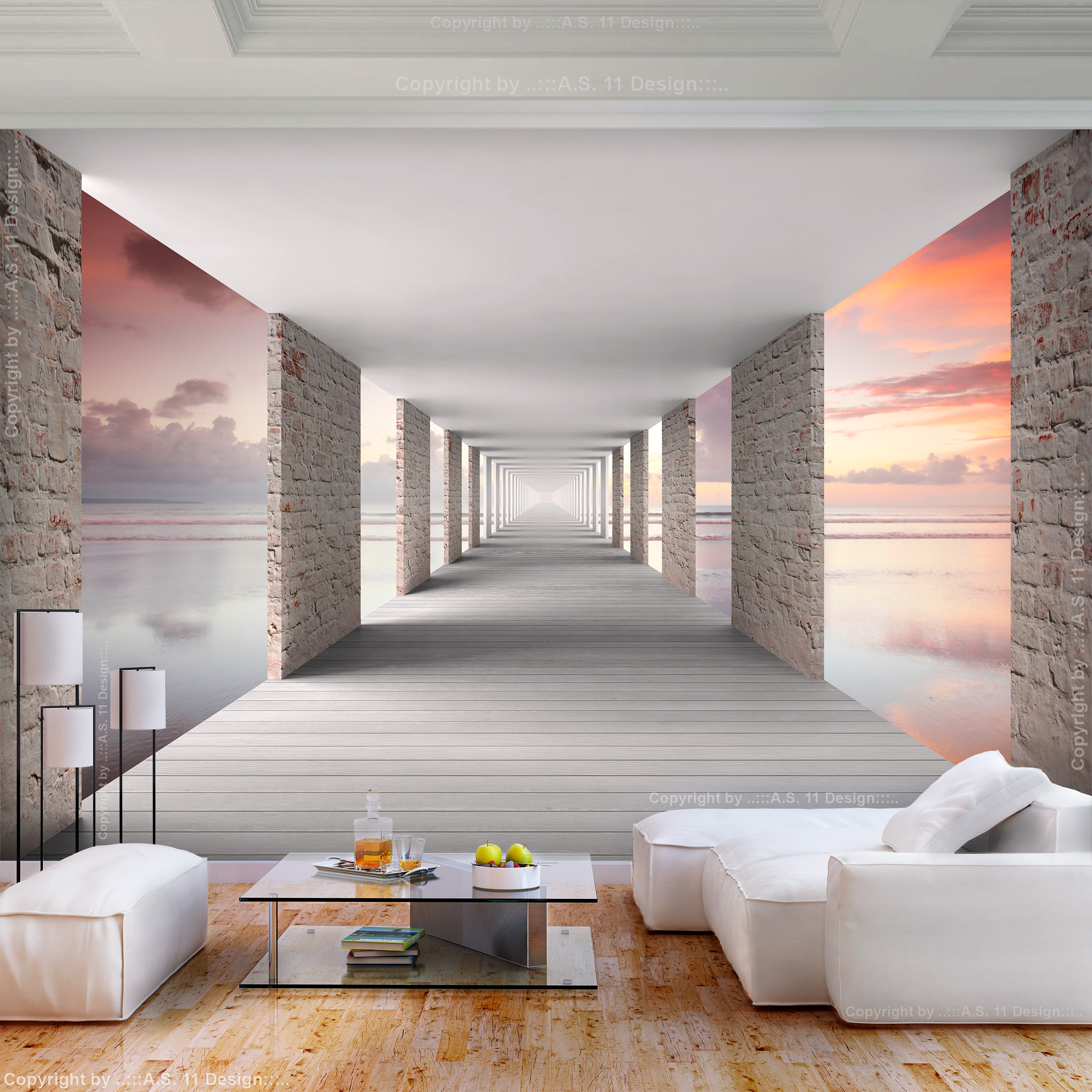 Vlies fototapete new york tunnel 3d effekt tapete schlafzimmer wandbilder xxl ebay - Leinwandbilder schlafzimmer ...