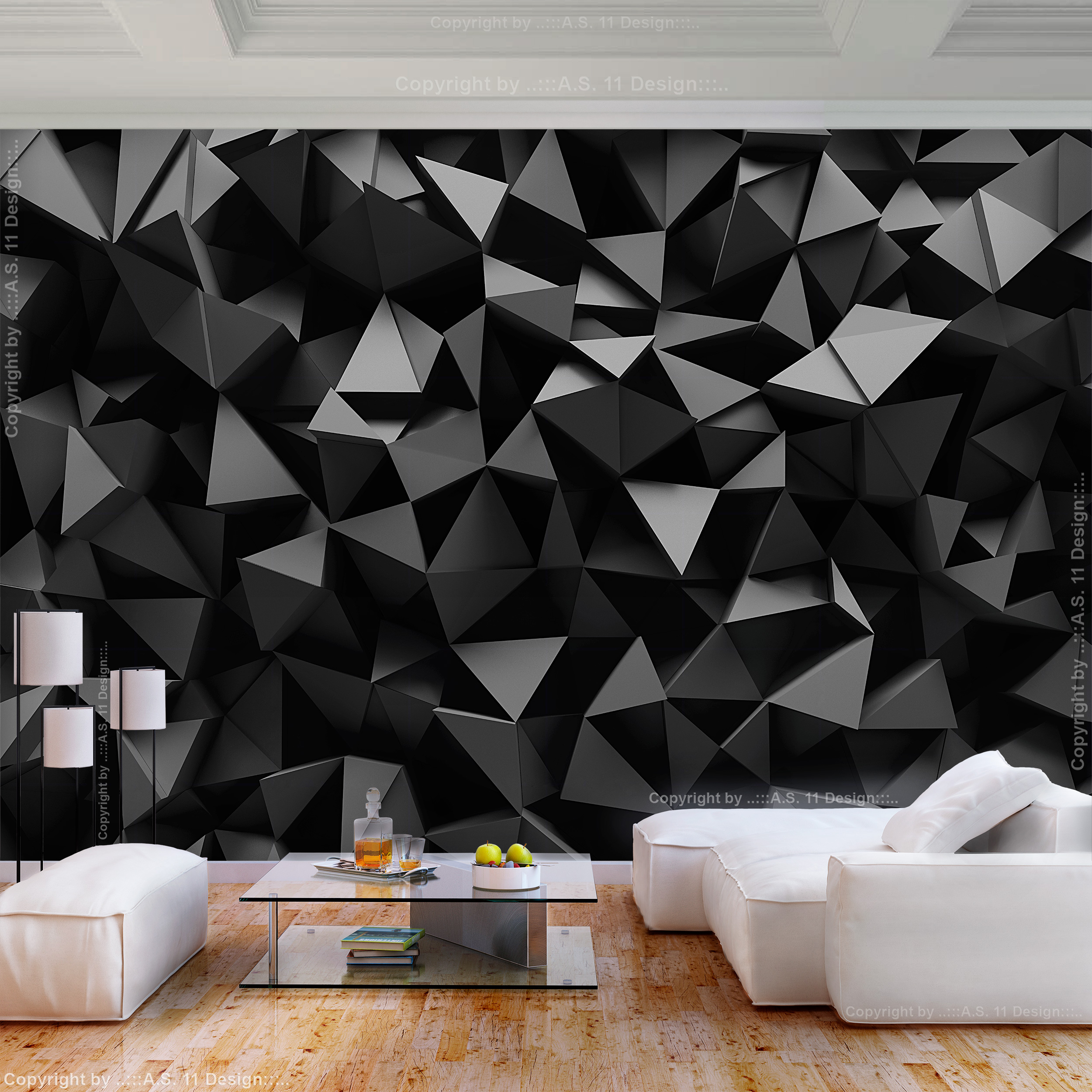 Vlies fototapete abstrakt schwarz 3d effekt tapete for 3d tapete grau